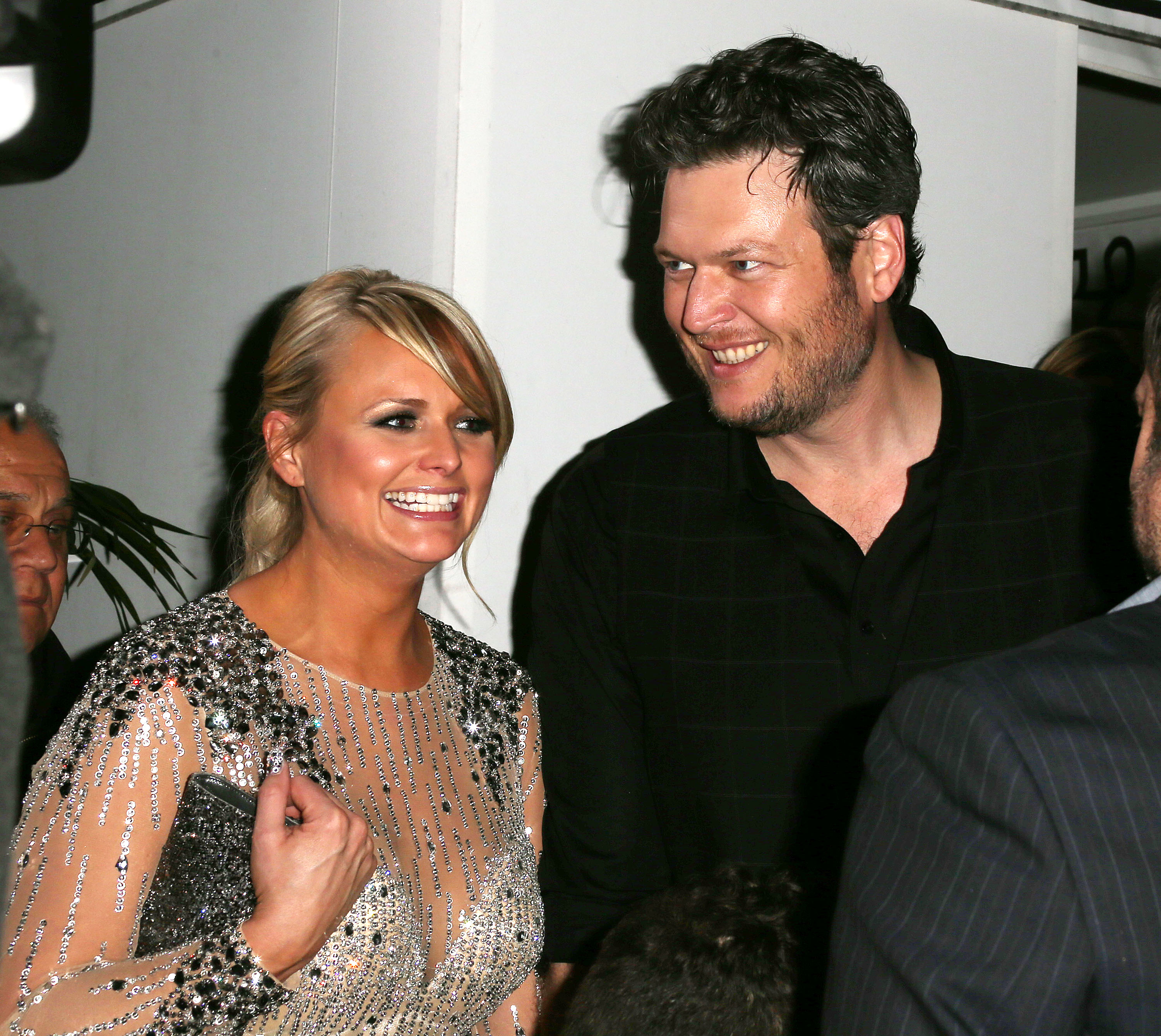 Recording artists Miranda Lambert (L) and Blake Shelton attend Warner Music Group's 2013 Grammy Celebration at Chateau Marmont's Bar Marmont on February 10, 2013 in Hollywood, California. (Photo by Frederick M. Brown/Getty Images)