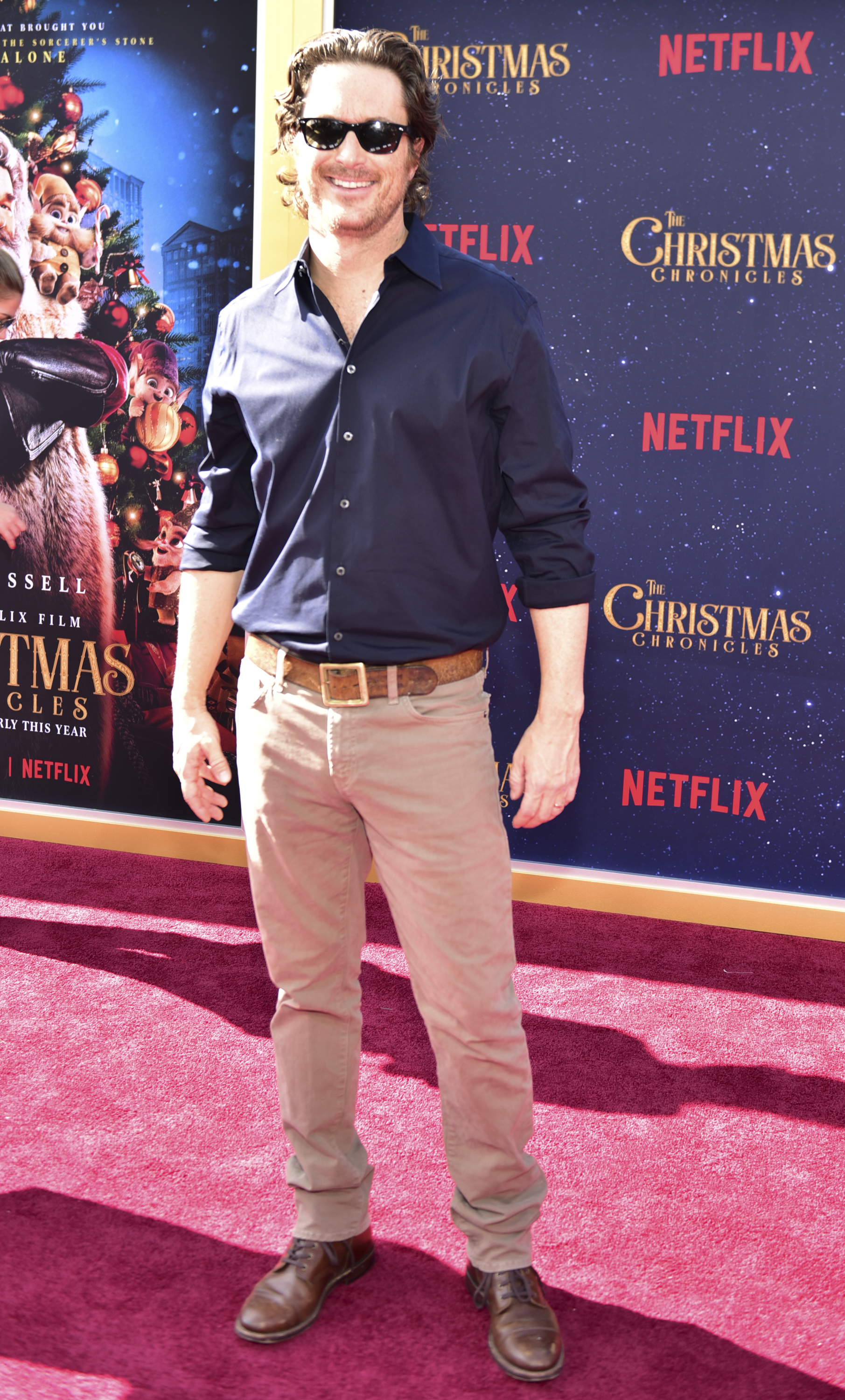 Oliver Hudson arrives at the premiere of Netflix's 'The Christmas Chronicles' (Photo by Rodin Eckenroth/Getty Images)