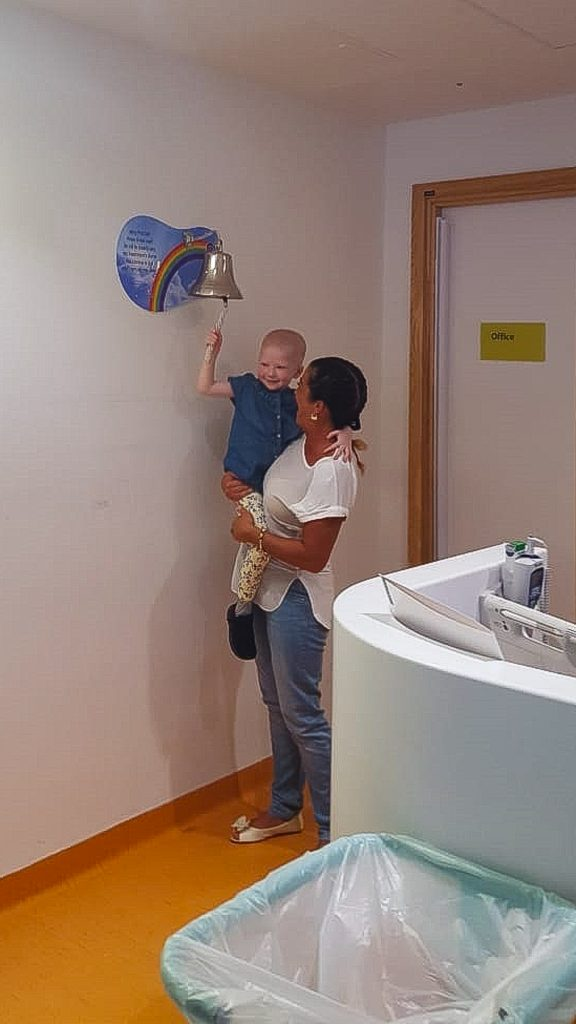 But in spite of all the hardships, the brave youngster fought through her disease and came back strong, ringing the bell to signify the end of her treatment at the end of August. (Source: Mercury Press)