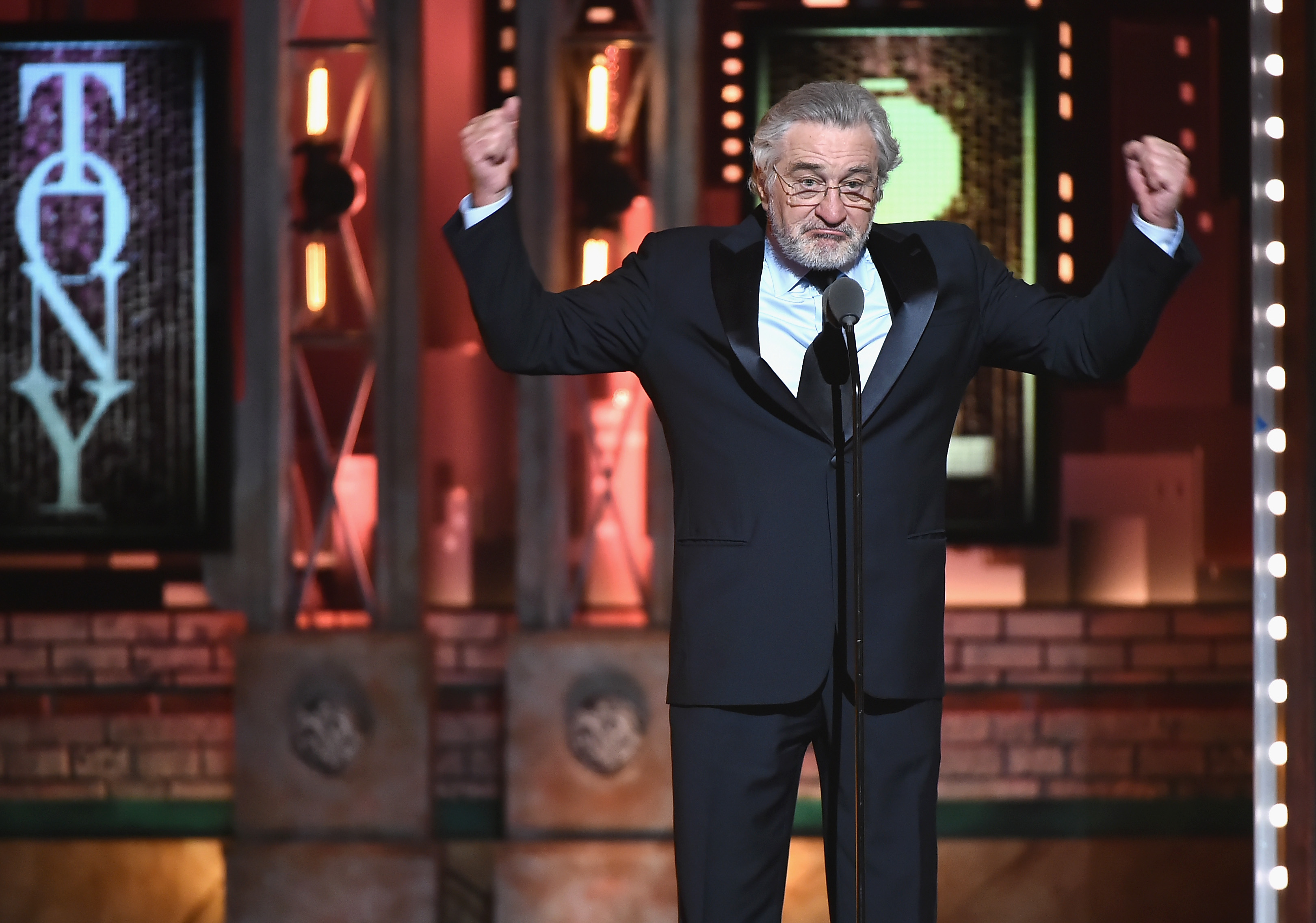 Robert De Niro speaks onstage during the 72nd Annual Tony Awards at Radio City Music Hall on June 10, 2018, in New York City. (Getty Images)