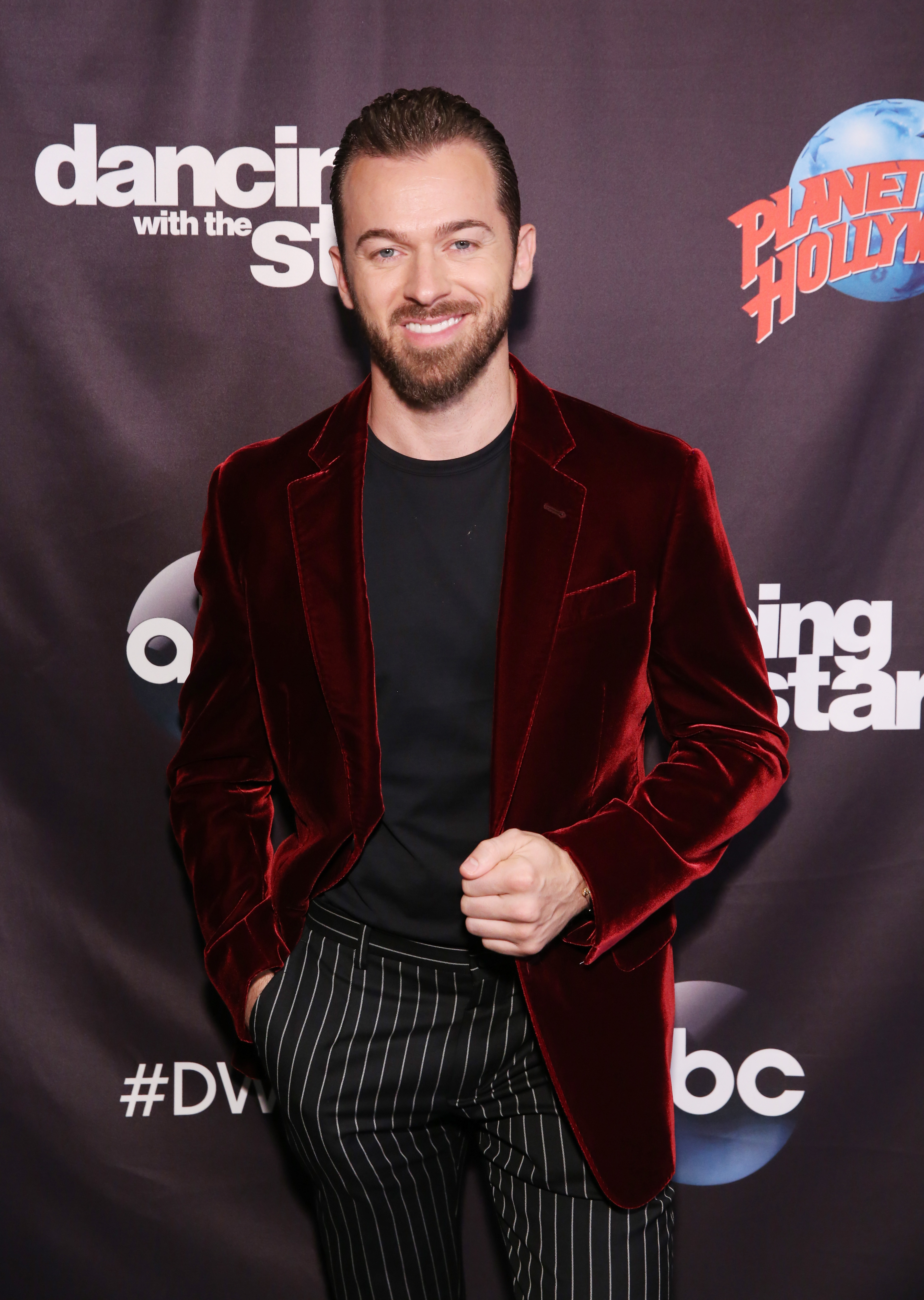 Artem Chigvinstev attends Dancing With The Stars Season 27 Cast Reveal Red Carpet At Planet Hollywood Times Square at Planet Hollywood Times Square on September 12, 2018 in New York City.