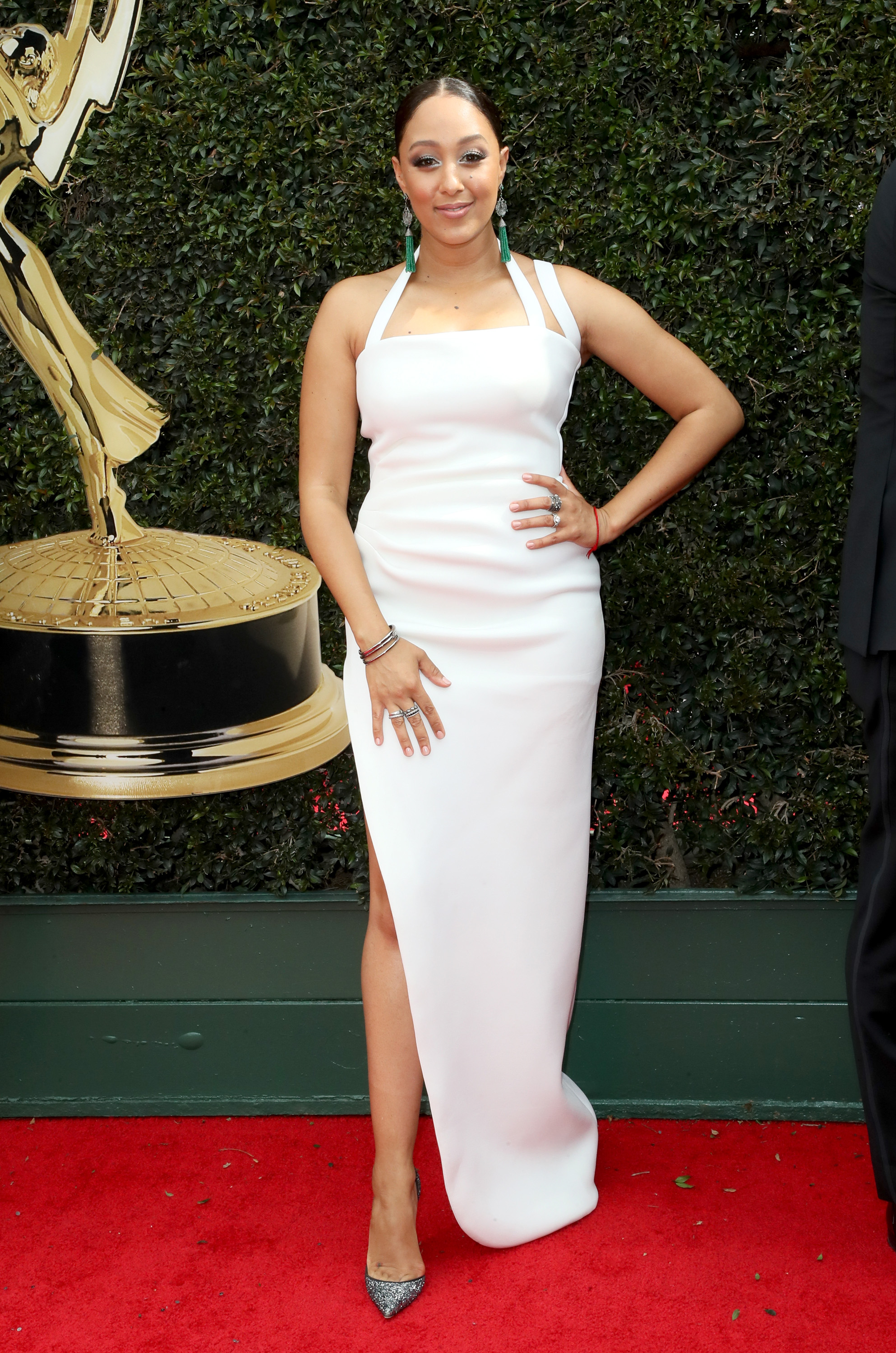 Tamera Mowry attends the 45th annual Daytime Emmy Awards at Pasadena Civic Auditorium on April 29, 2018 in California. (Photo by David Livingston/Getty Images)