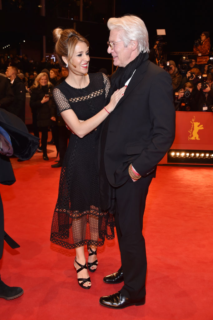 Actor Richard Gere and girlfriend Alejandra Silva attend the 'The Dinner' premiere during the 67th Berlinale International Film Festival Berlin at Berlinale Palace on February 10, 2017 in Berlin, Germany. (Photo by Pascal Le Segretain/Getty Images)