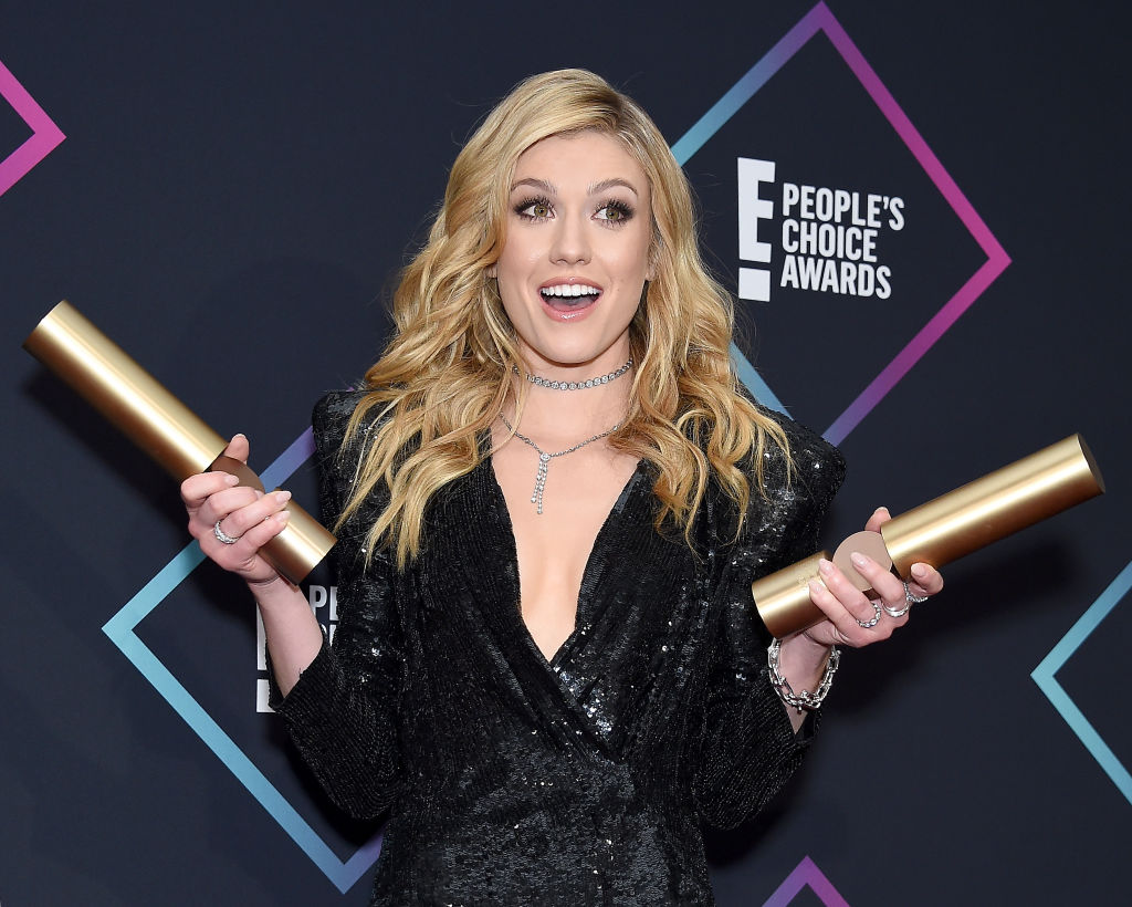 Katherine McNamara of 'Shadowhunters: The Mortal Instruments', Show of 2018, poses in the press room at the People's Choice Awards 2018 at Barker Hangar on November 11, 2018 in Santa Monica, California. (Photo by Gregg DeGuire/Getty Images)