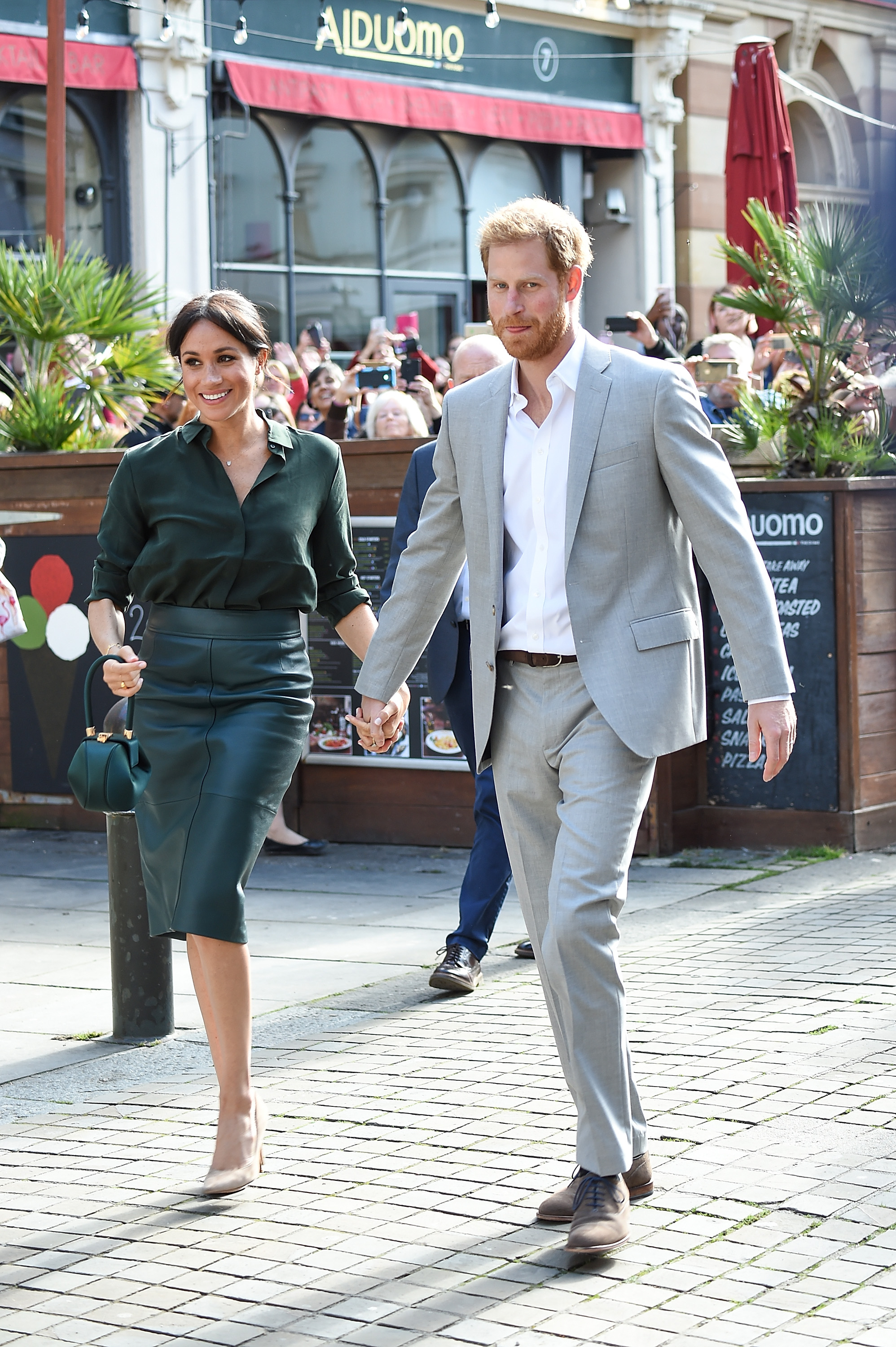 Prince Harry and Meghan Markle in Brighton during an official visit to Sussex on October 3 (Getty Images)