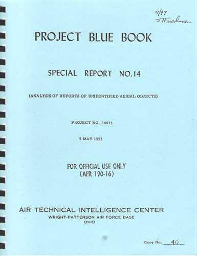 Project Blue Book was one of a series of systematic studies of unidentified flying objects (UFOs) conducted by the United States Air Force. (Facebook)