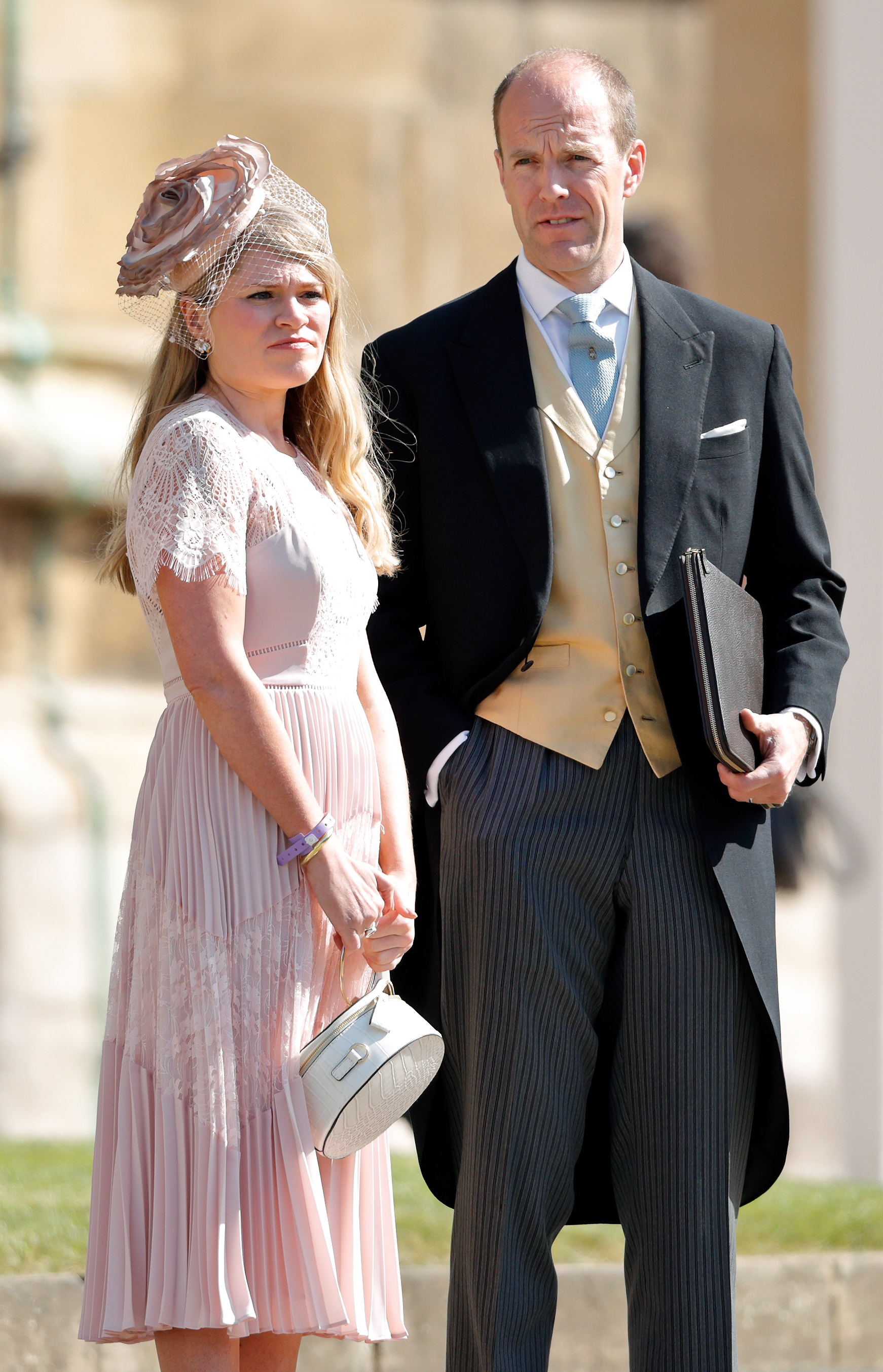 Amy Pickerill and Ed Lane Fox attend the wedding of Prince Harry to Meghan Markle at St George's Chapel, Windsor Castle on May 19, 2018 in Windsor, England. (Photo by Max Mumby/Indigo/Getty Images)