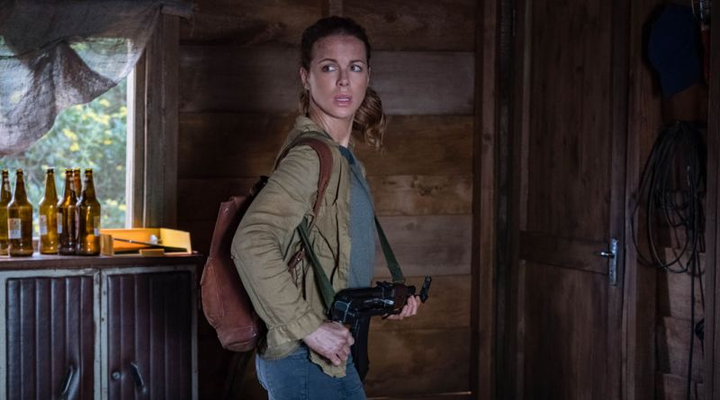 Kate Beckinsale on ''The Widow' (poster released by Amazon Prime Video)