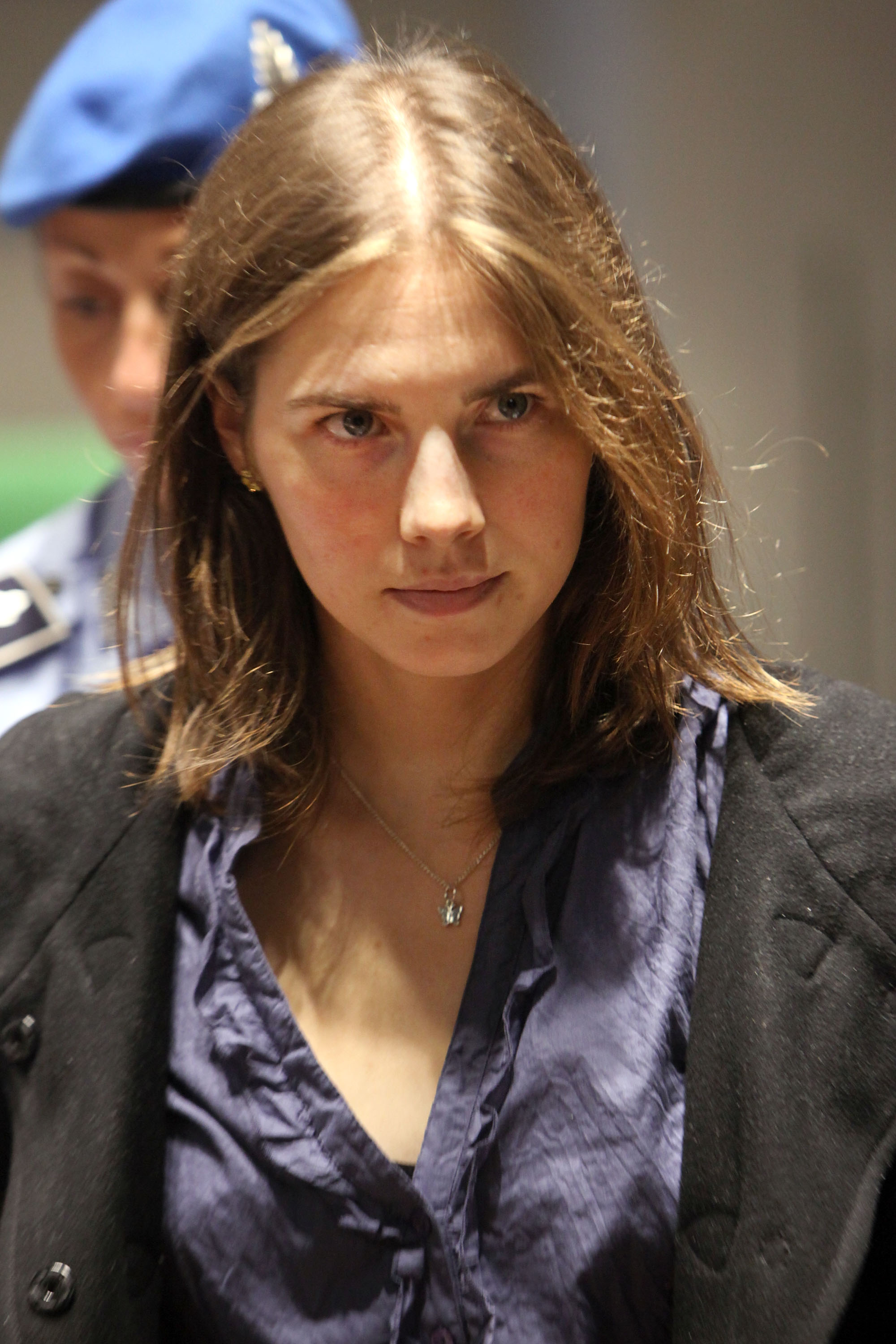 Amanda Knox attends her appeal hearing at Perugia's Court of Appeal on September 30, 2011, in Perugia, Italy. (Getty Images)