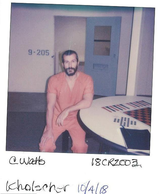 Chris Watts in jail on October 4 (Source: Frederick Police Department)