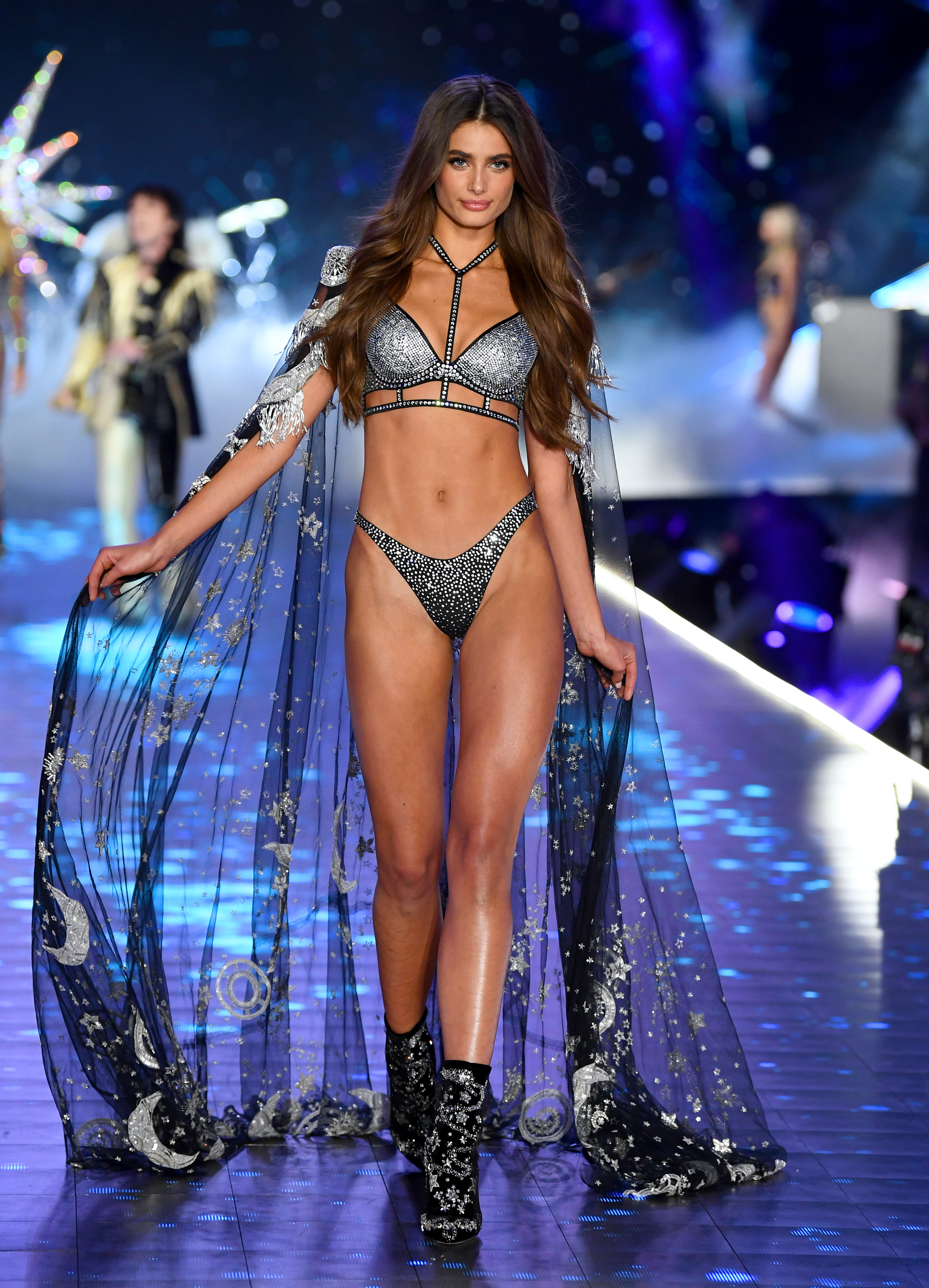 Taylor Hill walks the runway during the 2018 Victoria's Secret Fashion Show at Pier 94 on November 8, 2018 in New York City.