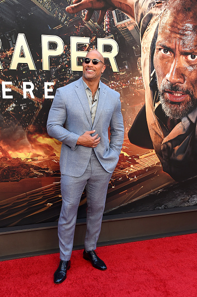 Dwayne Johnson attends the 'Skyscraper' New York Premiere at AMC Loews Lincoln Square on July 10, 2018 in New York City. (Photo by Michael Loccisano/Getty Images)