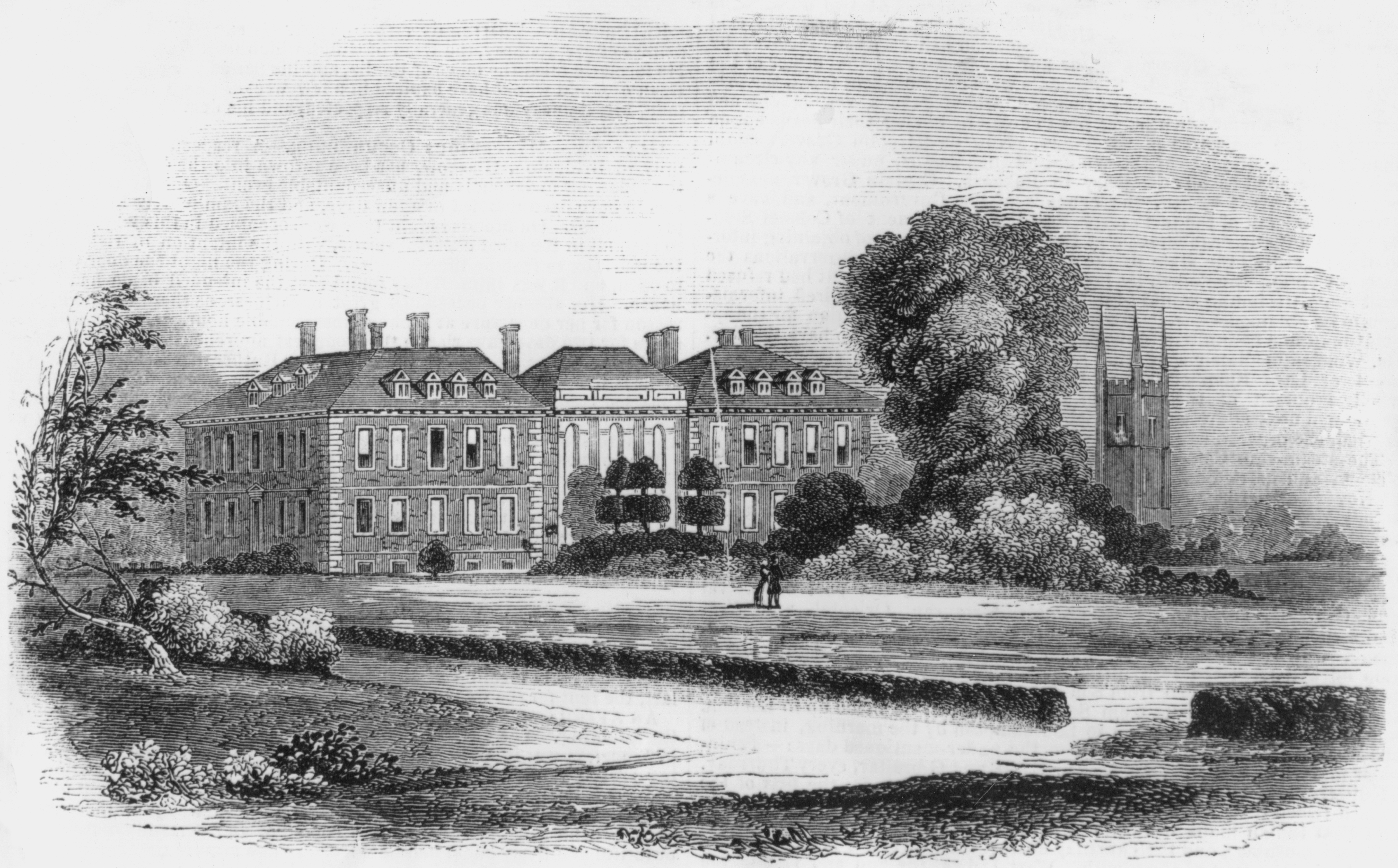 Marlborough Collegiate School, Wiltshire, circa 1820 (Getty Images)