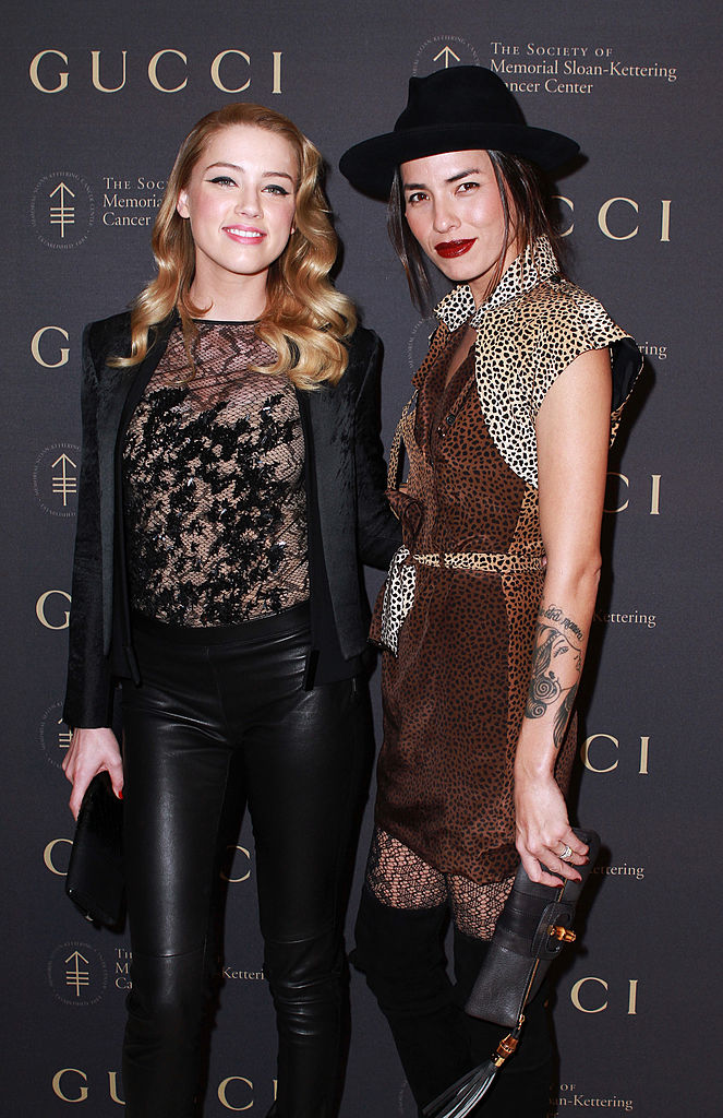 Amber Heard and Tasya Van Ree attend the Society of Sloane-Kettering Cancer Center's 2010 fall party at Four Seasons Restaurant on November 16, 2010, in New York City. (Photo by Donna Ward/Getty Images)