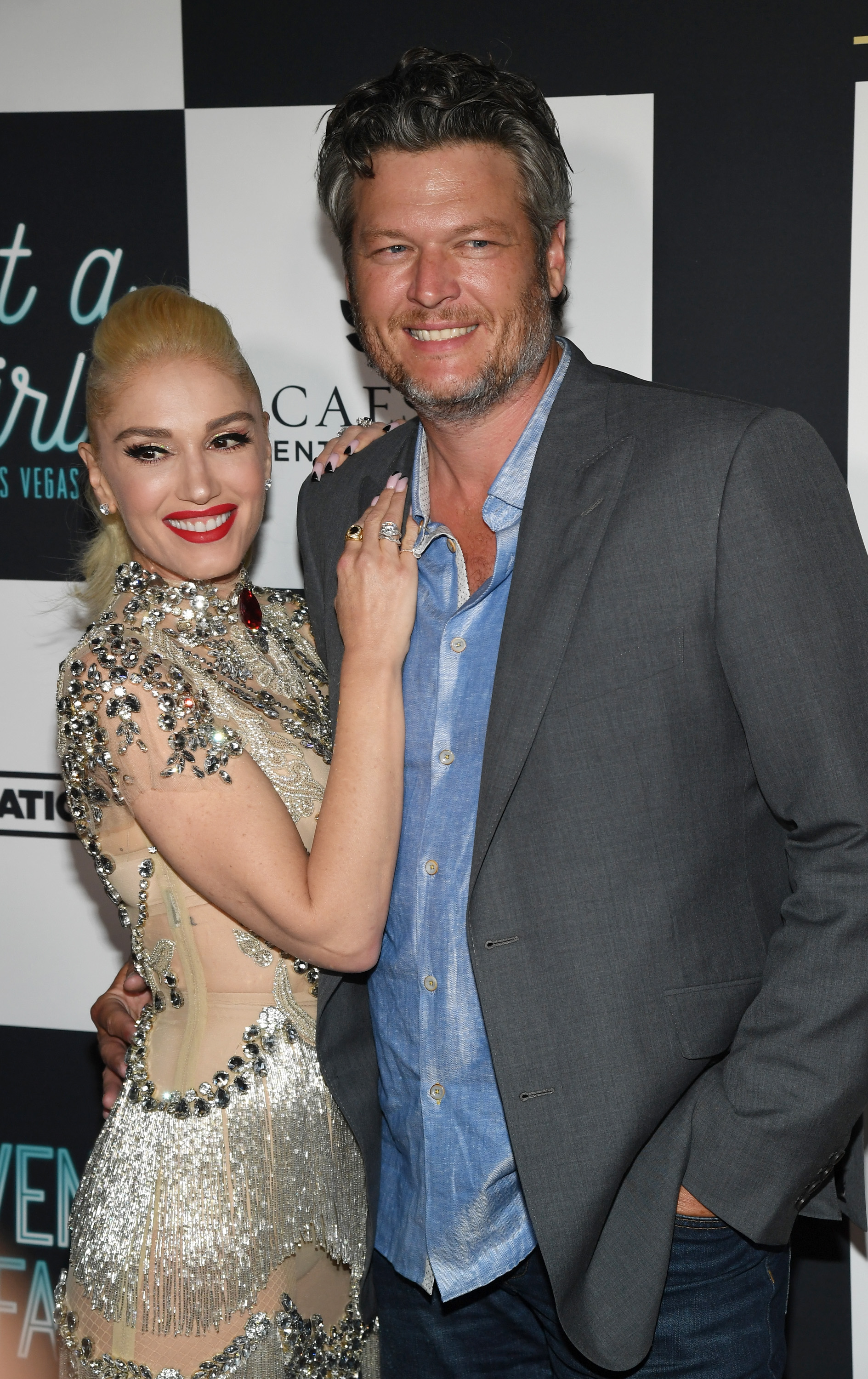 Singer Gwen Stefani and recording artist Blake Shelton attend the grand opening of her 'Gwen Stefani - Just a Girl' residency at Planet Hollywood Resort & Casino on June 28, 2018 in Las Vegas, Nevada. (Photo by Ethan Miller/Getty Images)