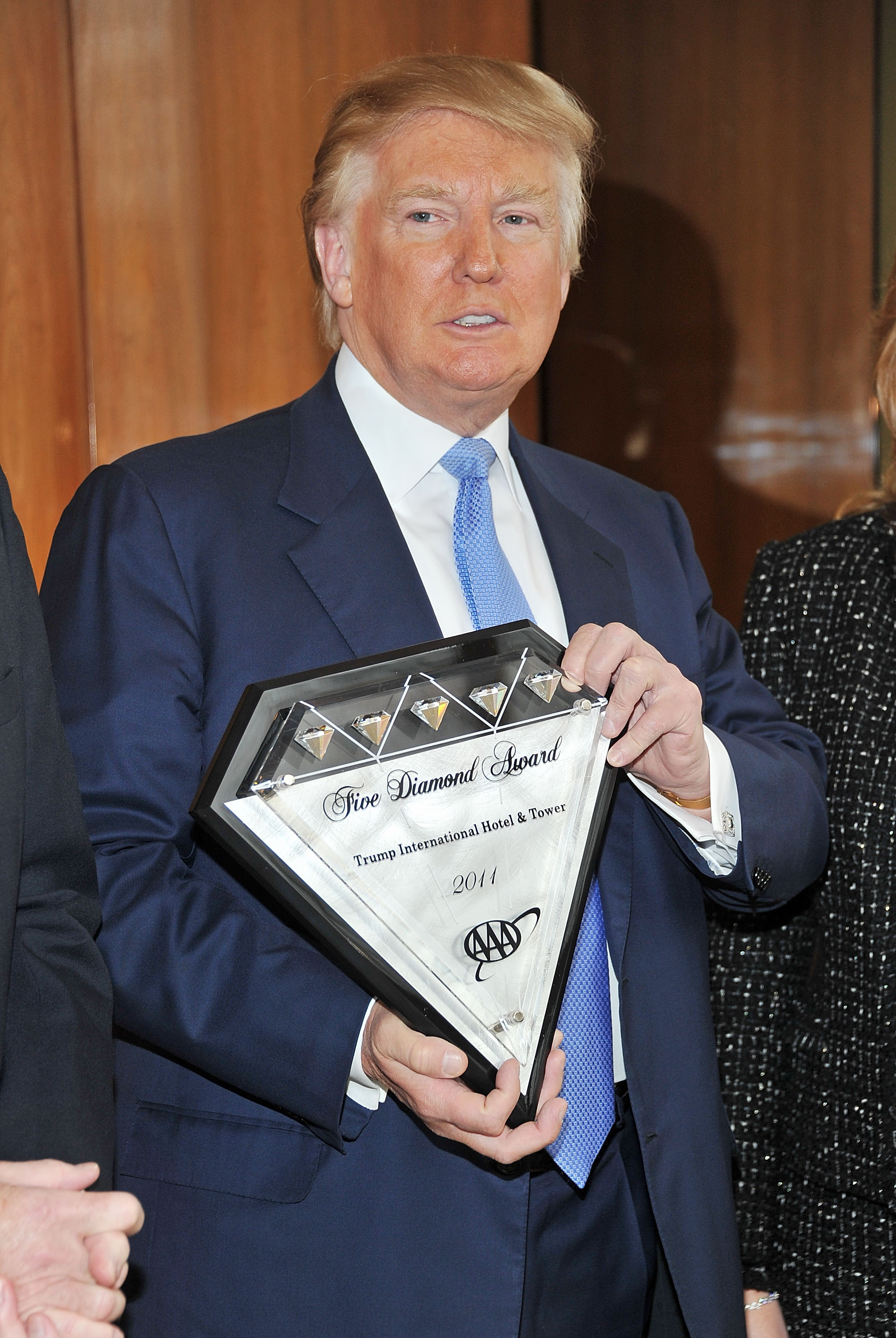 Donald Trump Receives AAA Five Diamonds for Trump Central Park at Trump International Hotel & Tower New York on March 31, 2011, in New York City. (Getty Images)