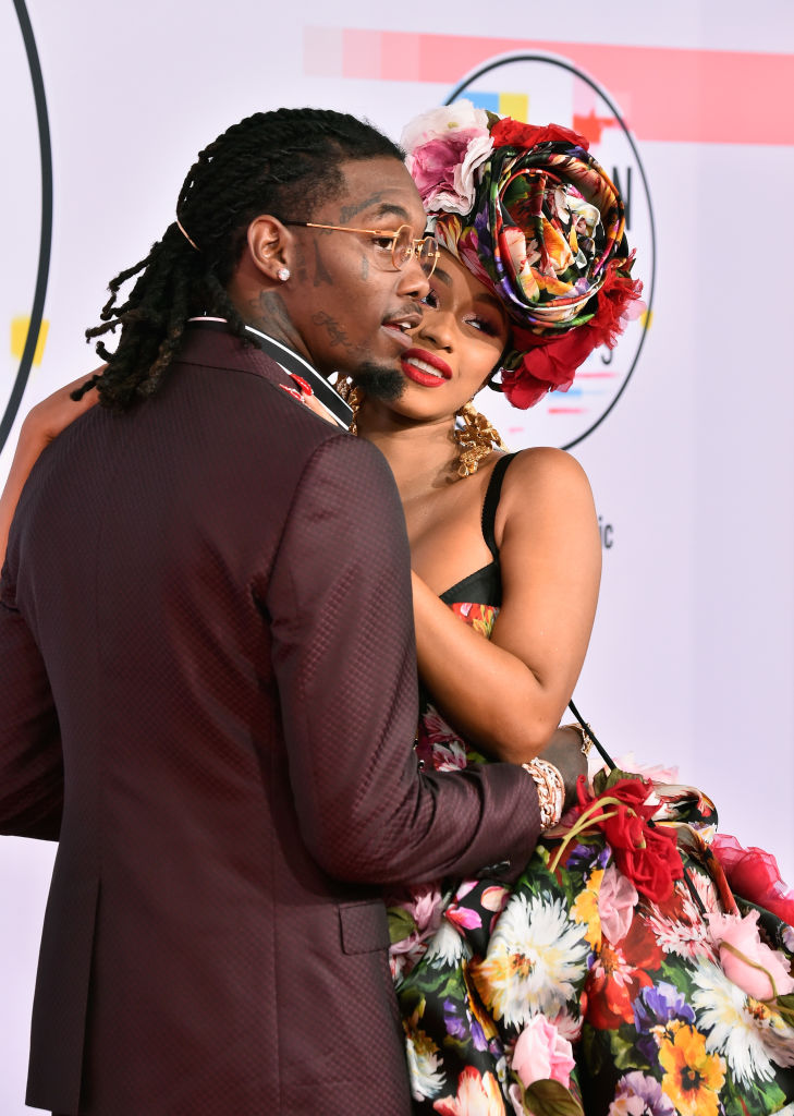Offset (L) and Cardi B attend the 2018 American Music Awards at Microsoft Theater on October 9, 2018 in Los Angeles, California. (Photo by Frazer Harrison/Getty Images)