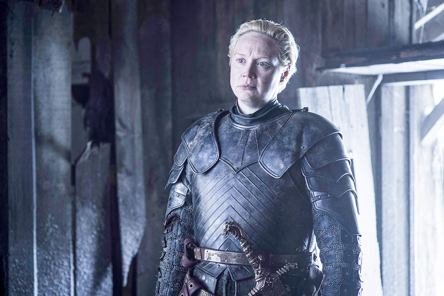 Bienne of Tarth (Gwendoline Christie) in 'Game of Thrones'. (Source: IMDB)