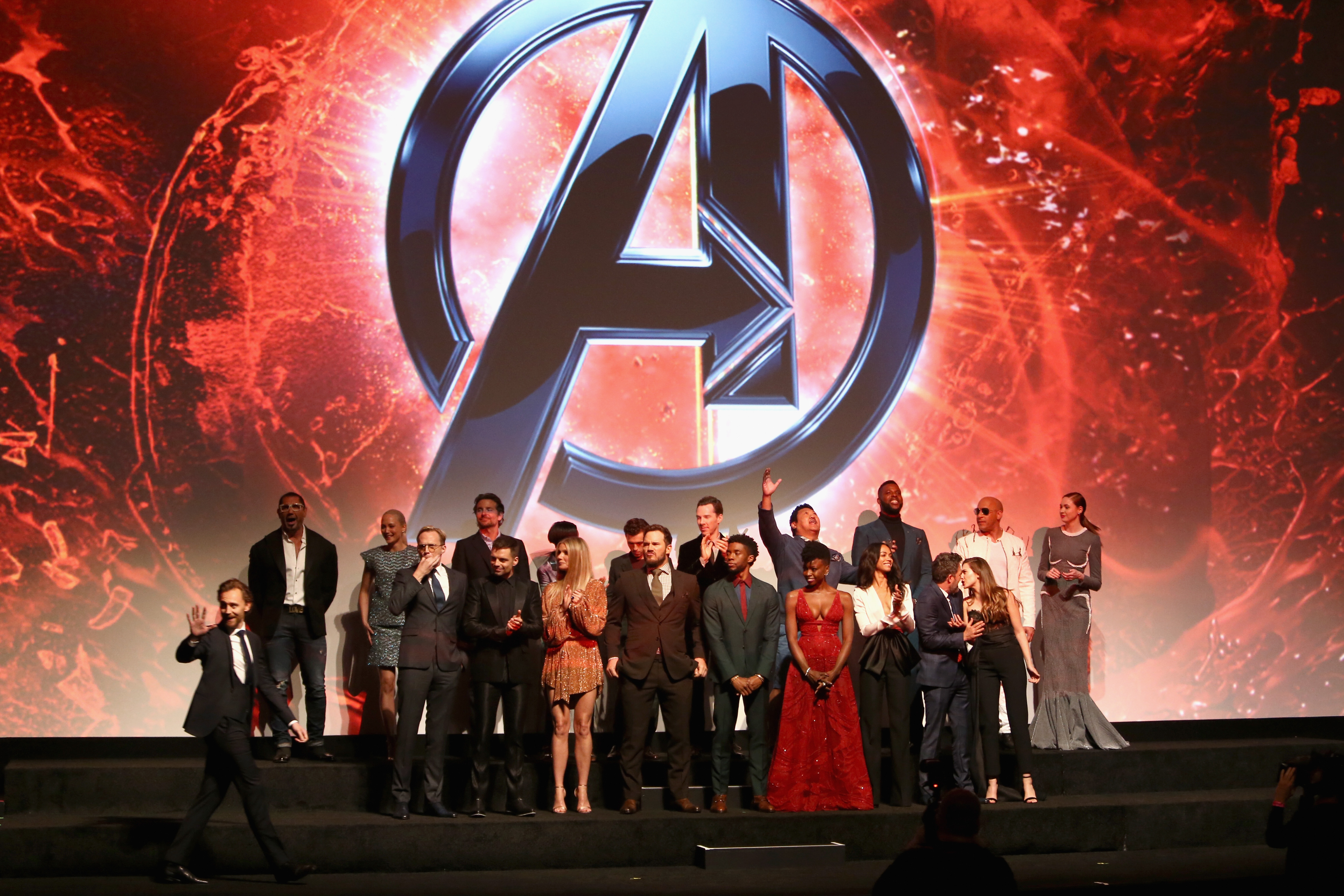 The cast of 'Avengers: Infinity War' (Source: Getty Images)