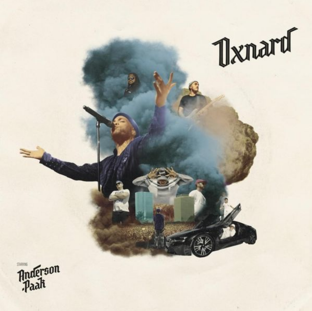 Album art for Anderson .Paak's new album 'Oxnard'.