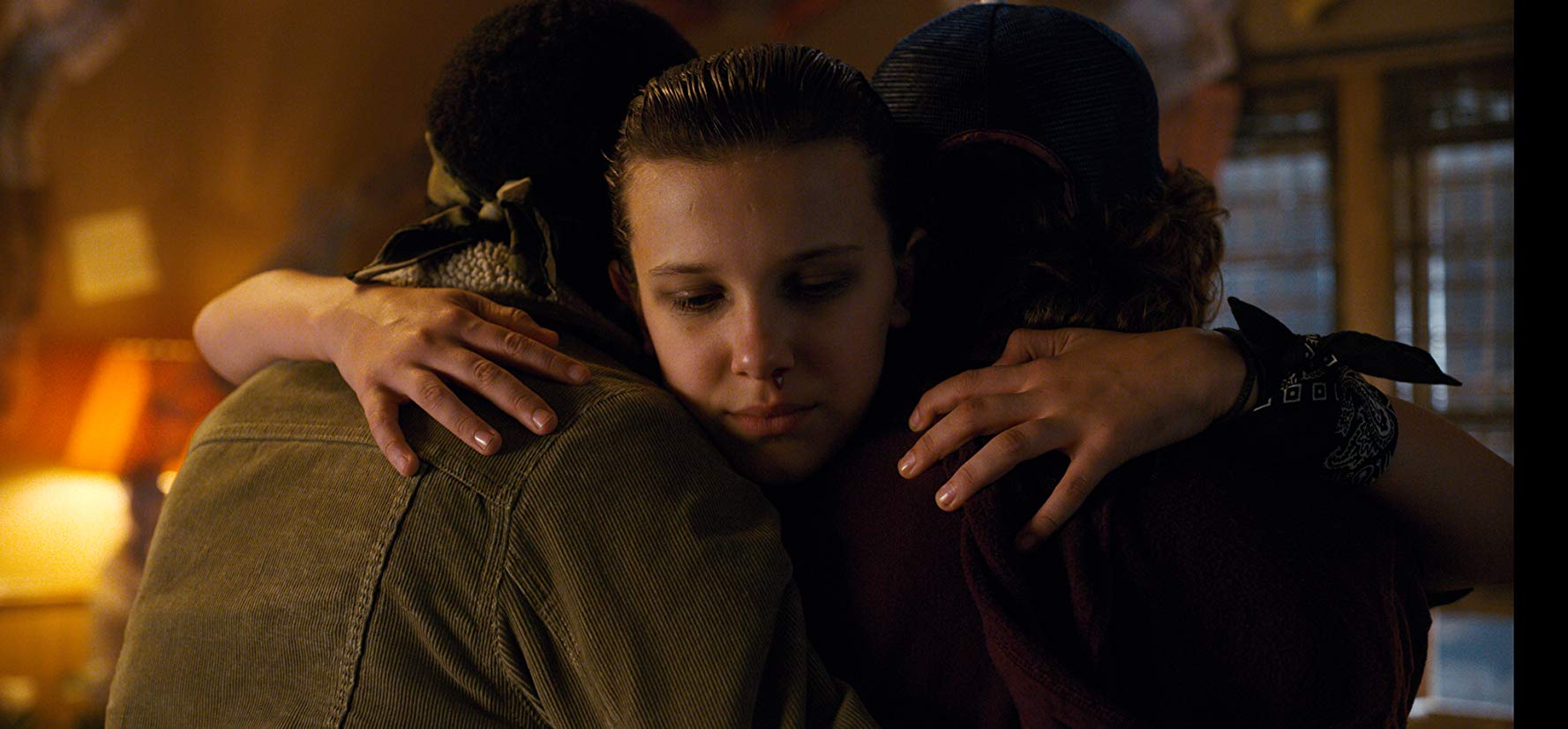 Eleven got lucky with finding friends who could put everything in line for her. (IMDb)