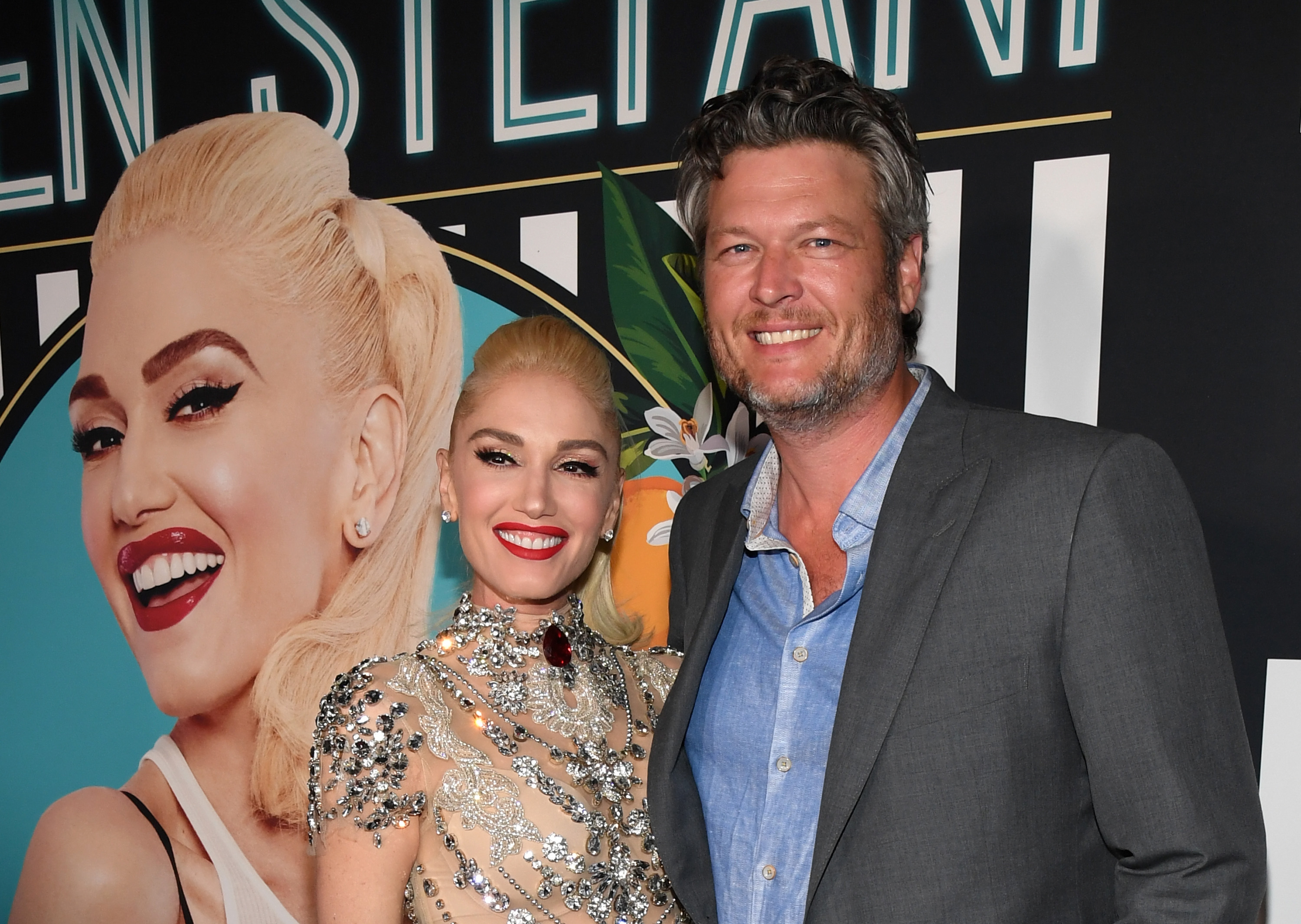 Singer Gwen Stefani (L) and recording artist Blake Shelton attend the grand opening of her 'Gwen Stefani - Just a Girl' residency at Planet Hollywood Resort & Casino on June 28, 2018 in Las Vegas, Nevada.