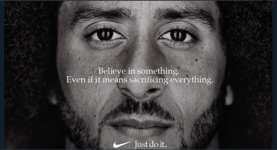 Nike's Just Do It campaign ad featuring Kolin Kaepernick