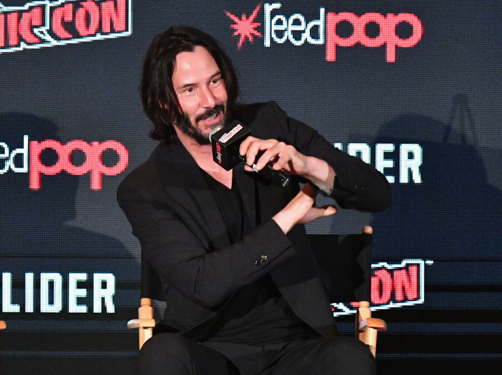 Keanu Reeves during the 2017 New York Comic Con on October 5, 2017, in New York City. (Getty Images)