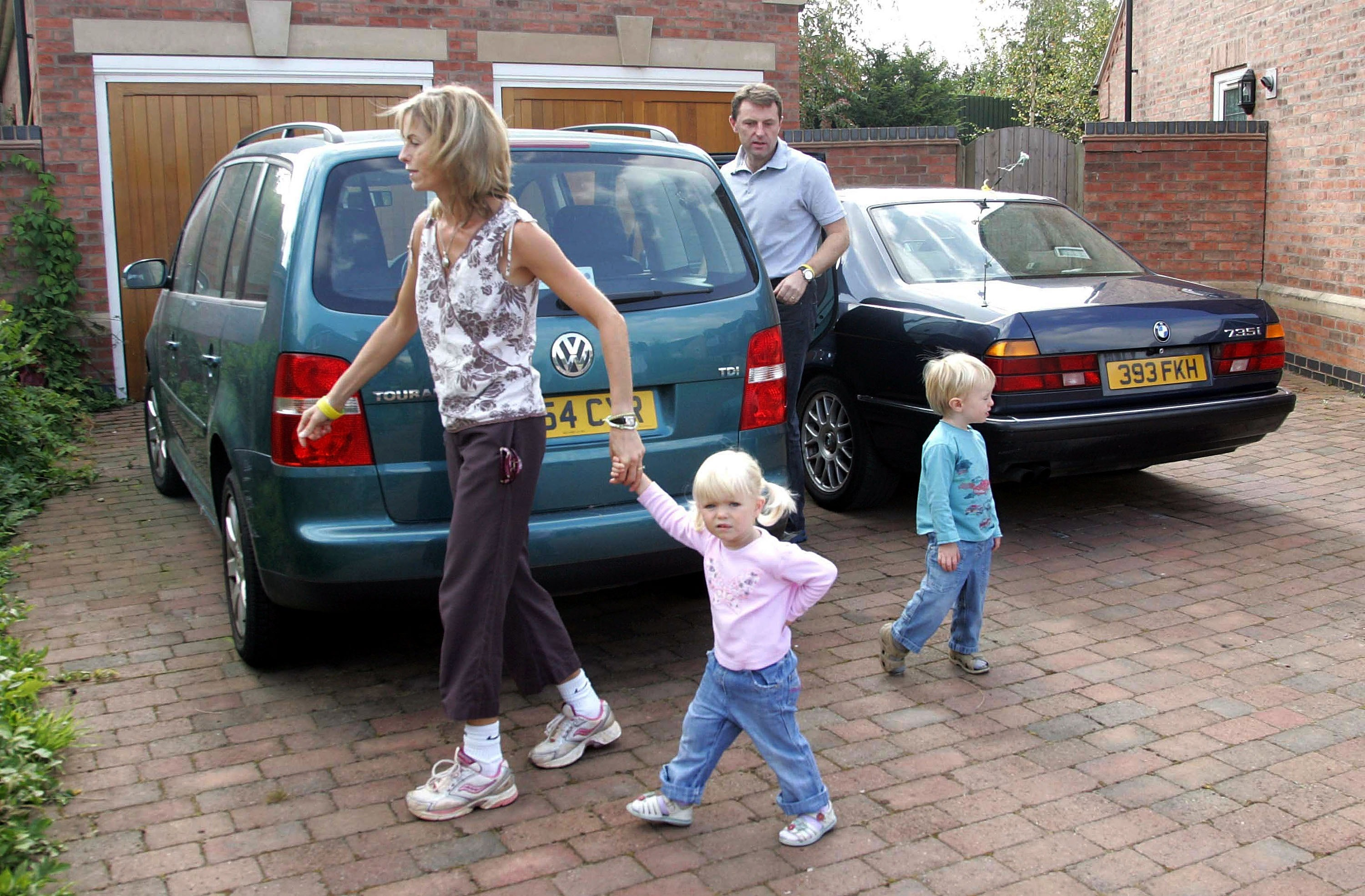 Kate and Gerry McCann leave their home today to take their children Amelie and Sean to a local play park on September 12, 2007 in Rothley, England. Portugal's public prosecutor is due to review police papers detailing the Madeleine McCann inquiry.