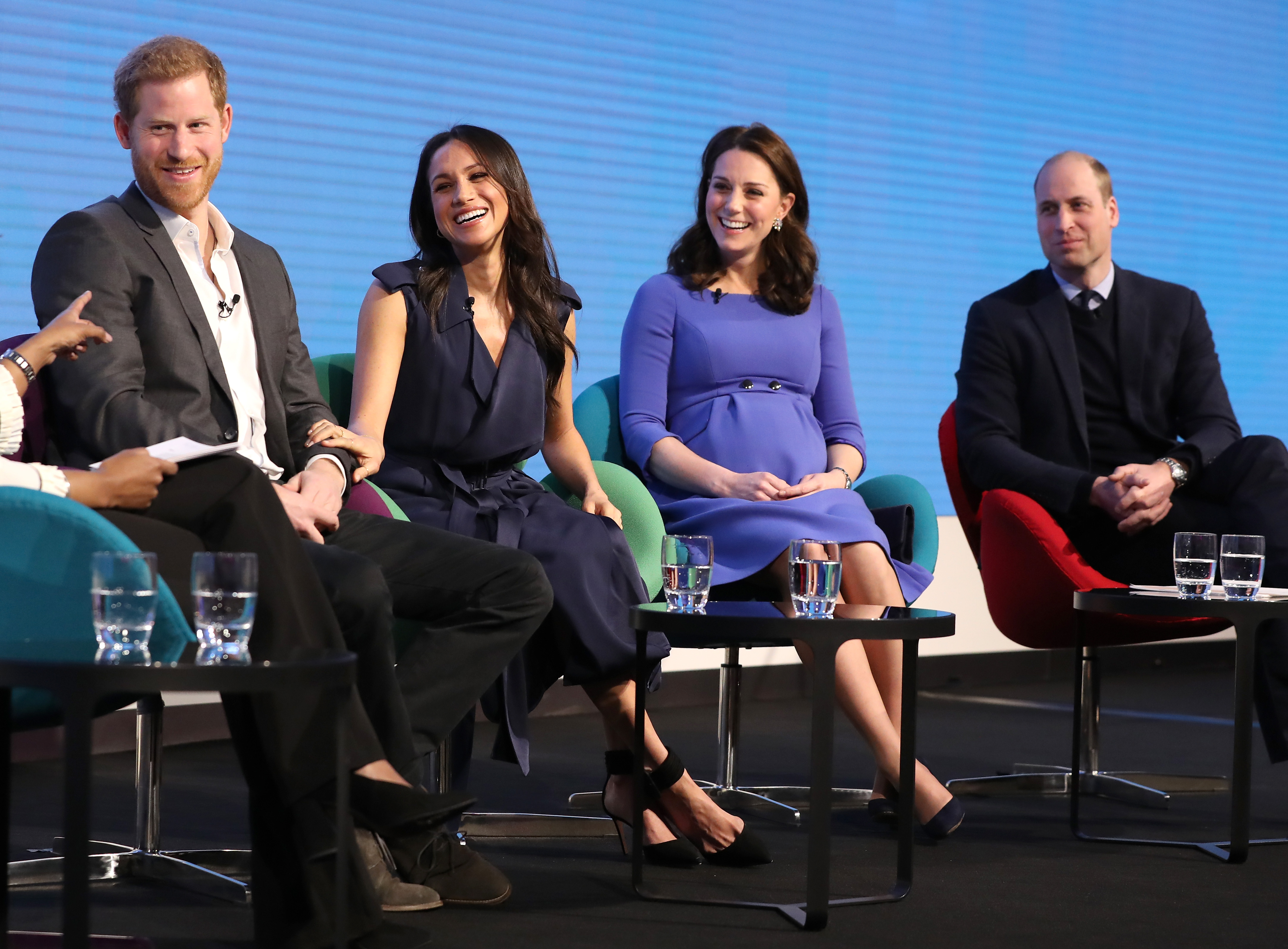Prince Harry, Meghan Markle, Catherine, Duchess of Cambridge and Prince William, Duke of Cambridge attend the first annual Royal Foundation Forum held at Aviva on February 28, 2018 in London, England. (Photo by Chris Jackson - WPA Pool/Getty Images)