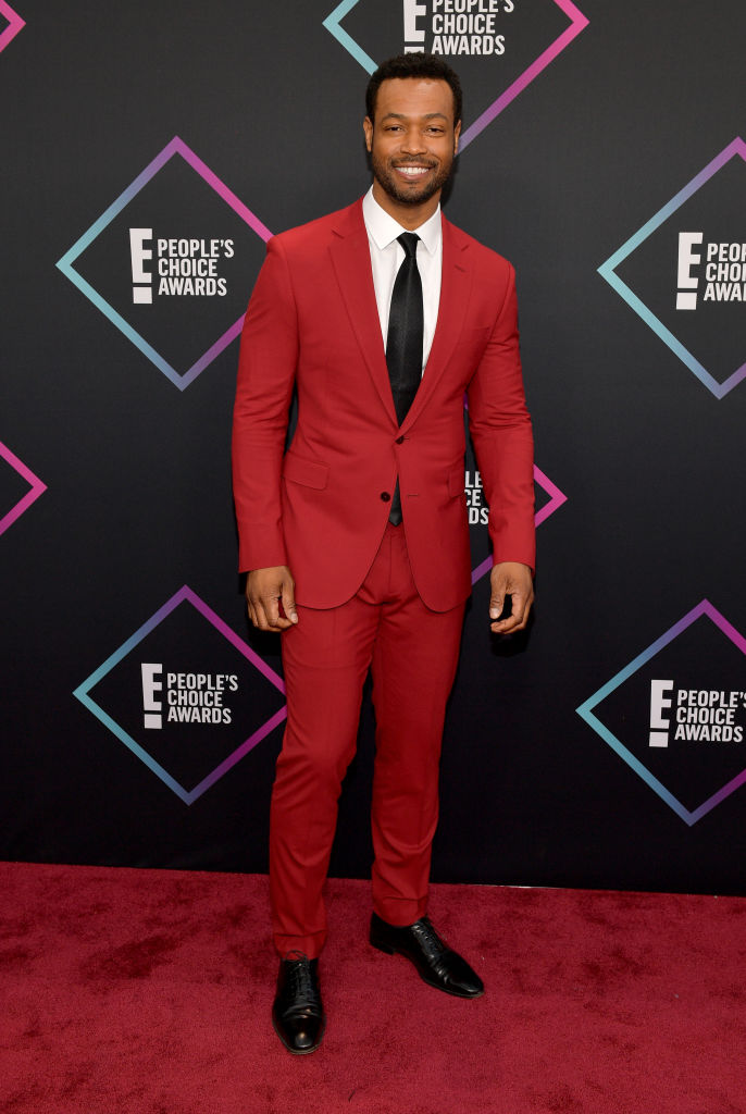 Isaiah Mustafa attends the People's Choice Awards 2018 at Barker Hangar on November 11, 2018 in Santa Monica, California. (Photo by Matt Winkelmeyer/Getty Images)
