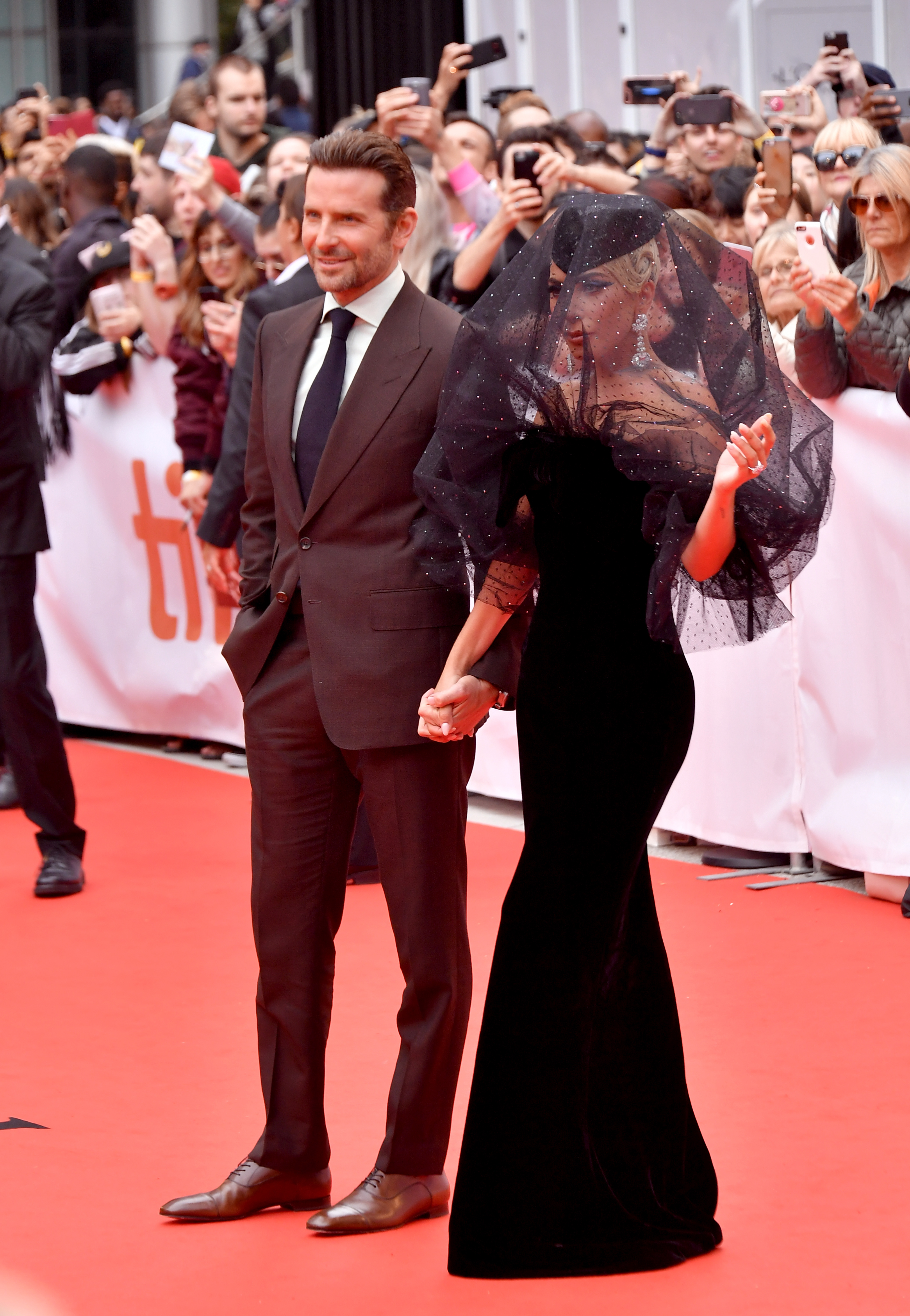Bradley Cooper (L) and Lady Gaga attend the 'A Star Is Born' premiere during 2018 Toronto International Film Festival at Roy Thomson Hall on September 9, 2018 in Toronto, Canada.