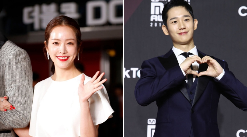 Actors Han Ji-Min (left) and Jung Hae-In (right) will be seen in the upcoming series Spring Night. (Source: Getty Images)