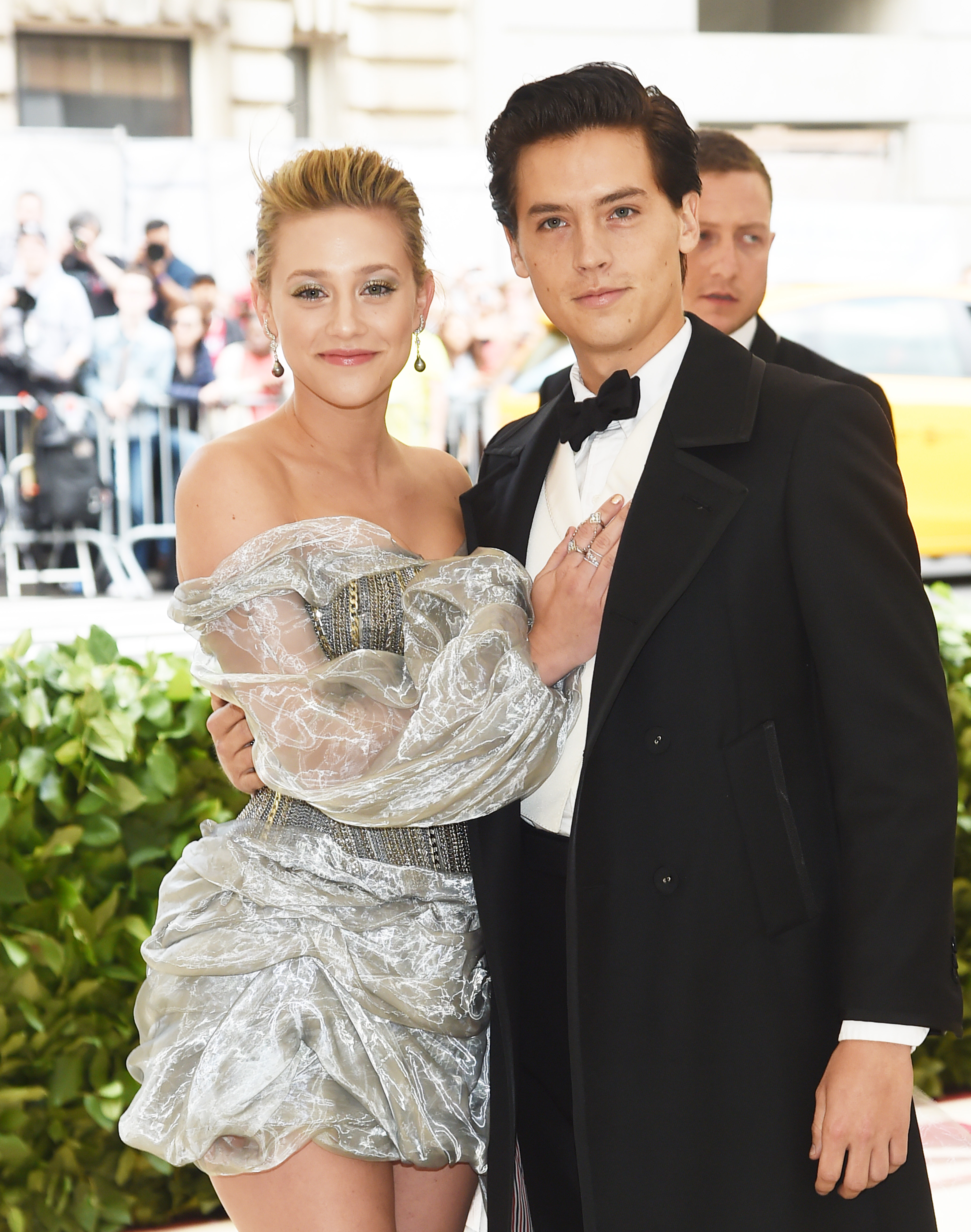 Lili Reinhart and Cole Sprouse attend the Heavenly Bodies: Fashion & The Catholic Imagination Costume Institute Gala at The Metropolitan Museum of Art on May 7, 2018 in New York City.