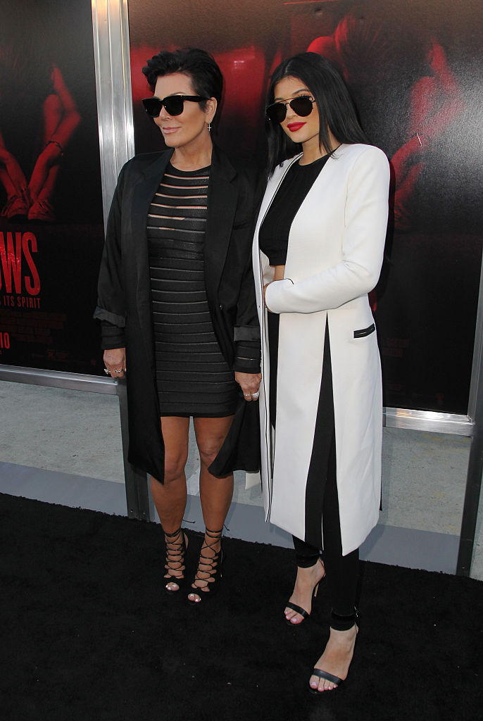 Kris Jenner and Kylie Jenner attend New Line Cinema's Premiere of 'The Gallows' at Hollywood High School on July 7, 2015 in Los Angeles, California. (Photo by David Buchan/Getty Images)