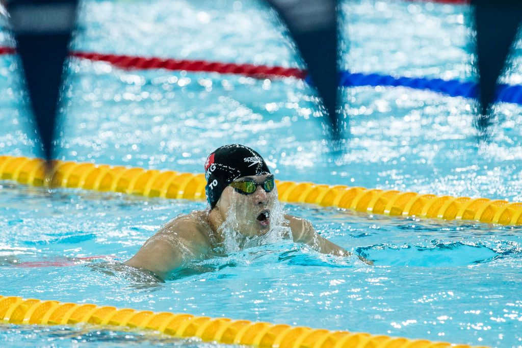 Kenneth To of Hong Kong during the FINA Swimming World Cup Men's 200m Individual Medley Heat 1 on October 01, 2017 in Hong Kong, Hong Kong. (Photo by Power Sport Images/Getty Images)