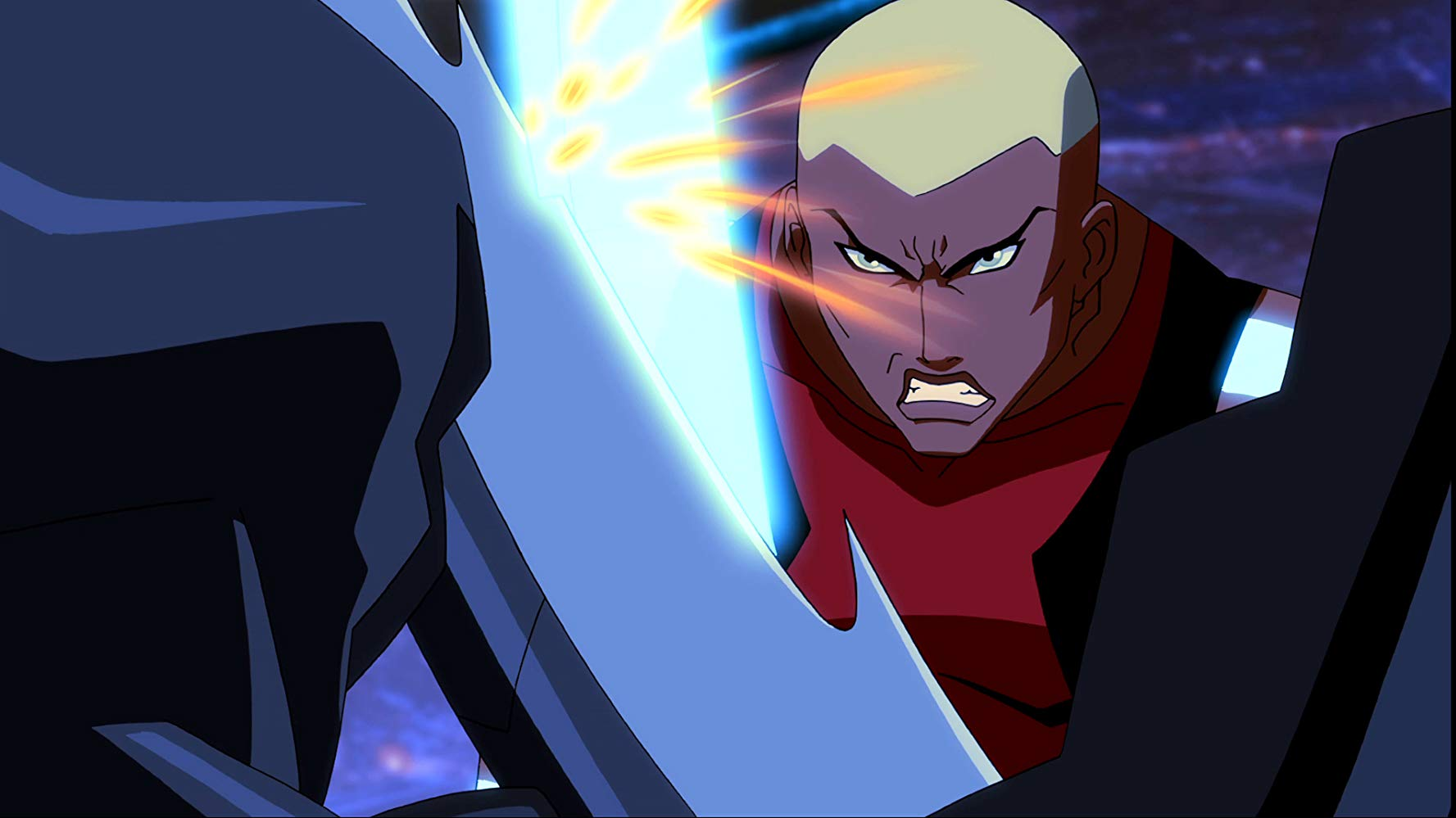 Kevin Grevioux (Black Beetle) and Khary Payton (Aqualad) in Young Justice. Source: IMDB