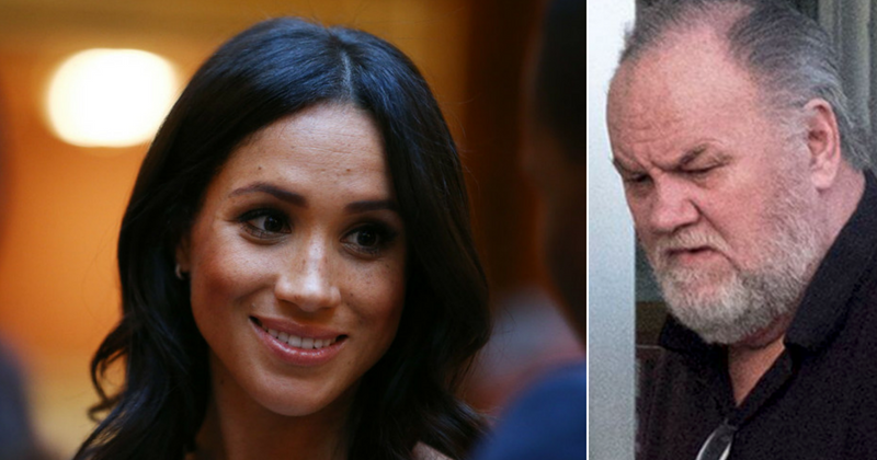 The Duchess of Sussex, Meghan Markle, and her father, Thomas Markle. (Source: Getty Images, Twitter)