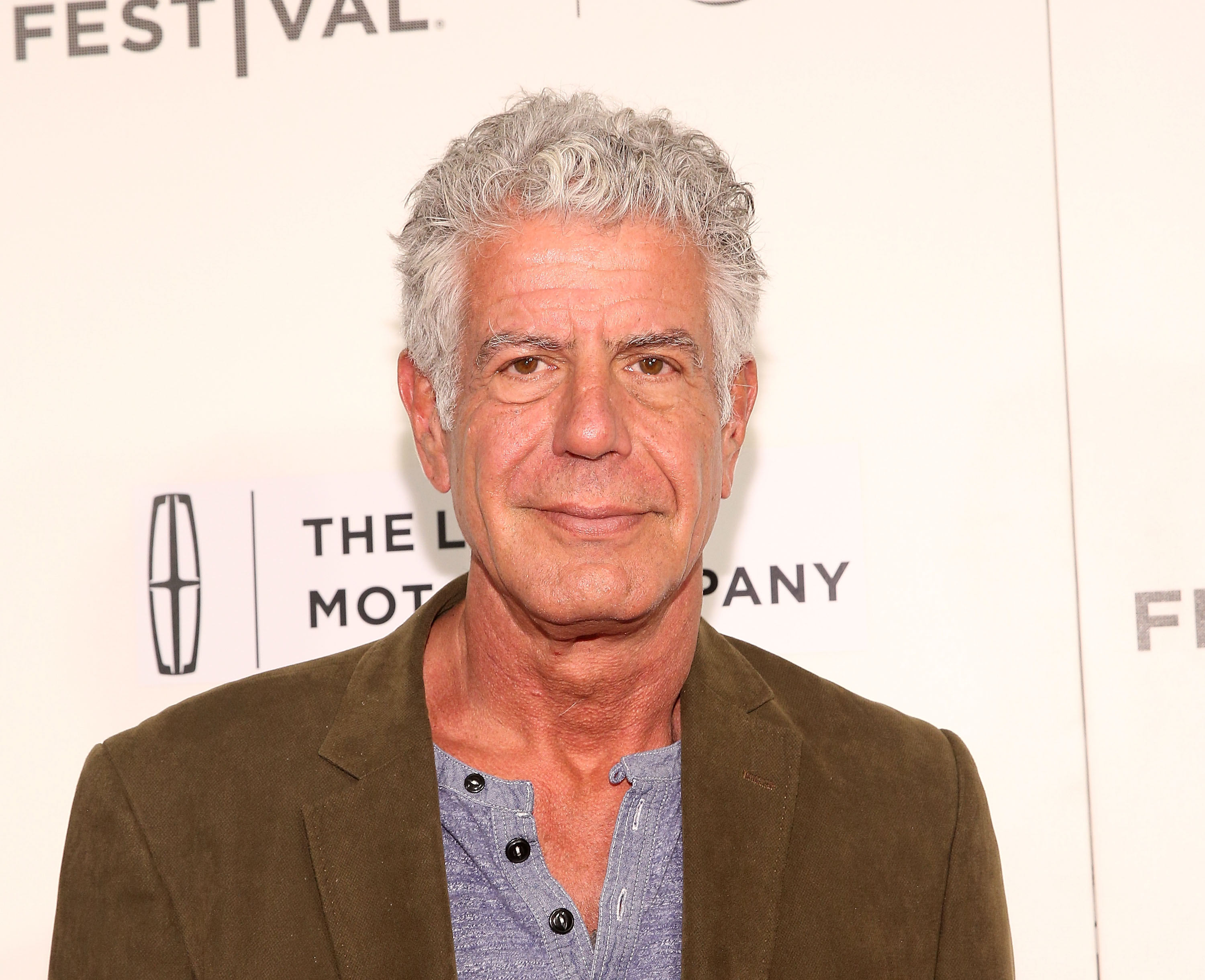 Anthony Bourdain attends 'WASTED! The Story of Food Waste' Premiere during 2017 Tribeca Film Festival at BMCC Tribeca PAC on April 22, 2017 in New York City.
