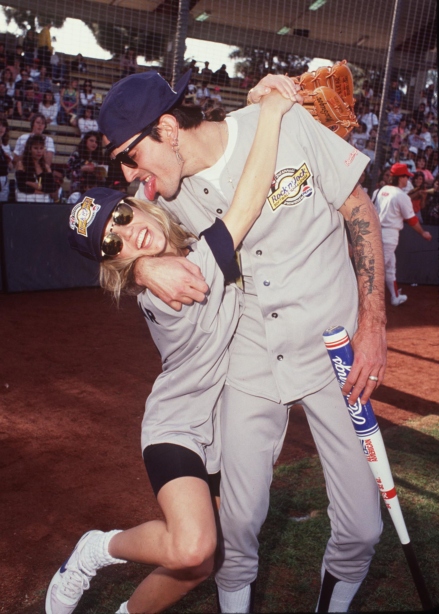 Tommy Lee & Heather Locklear at the USC Baseball Field in Los Angeles, California (Source: Steve Granitz/WireImage)