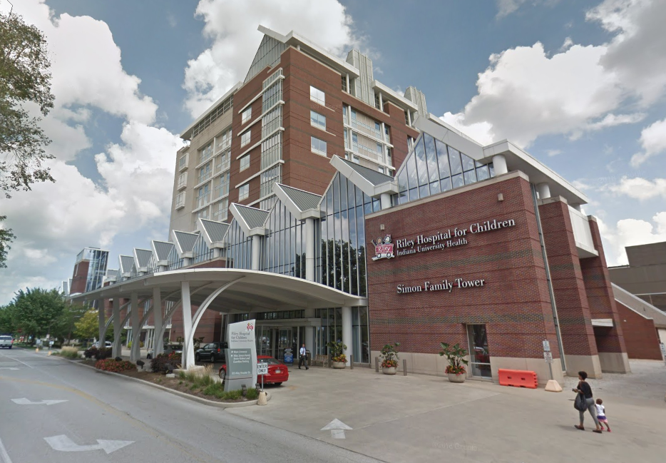 The toddler was taken to Riley Hospital for Children (Source: Google Maps)