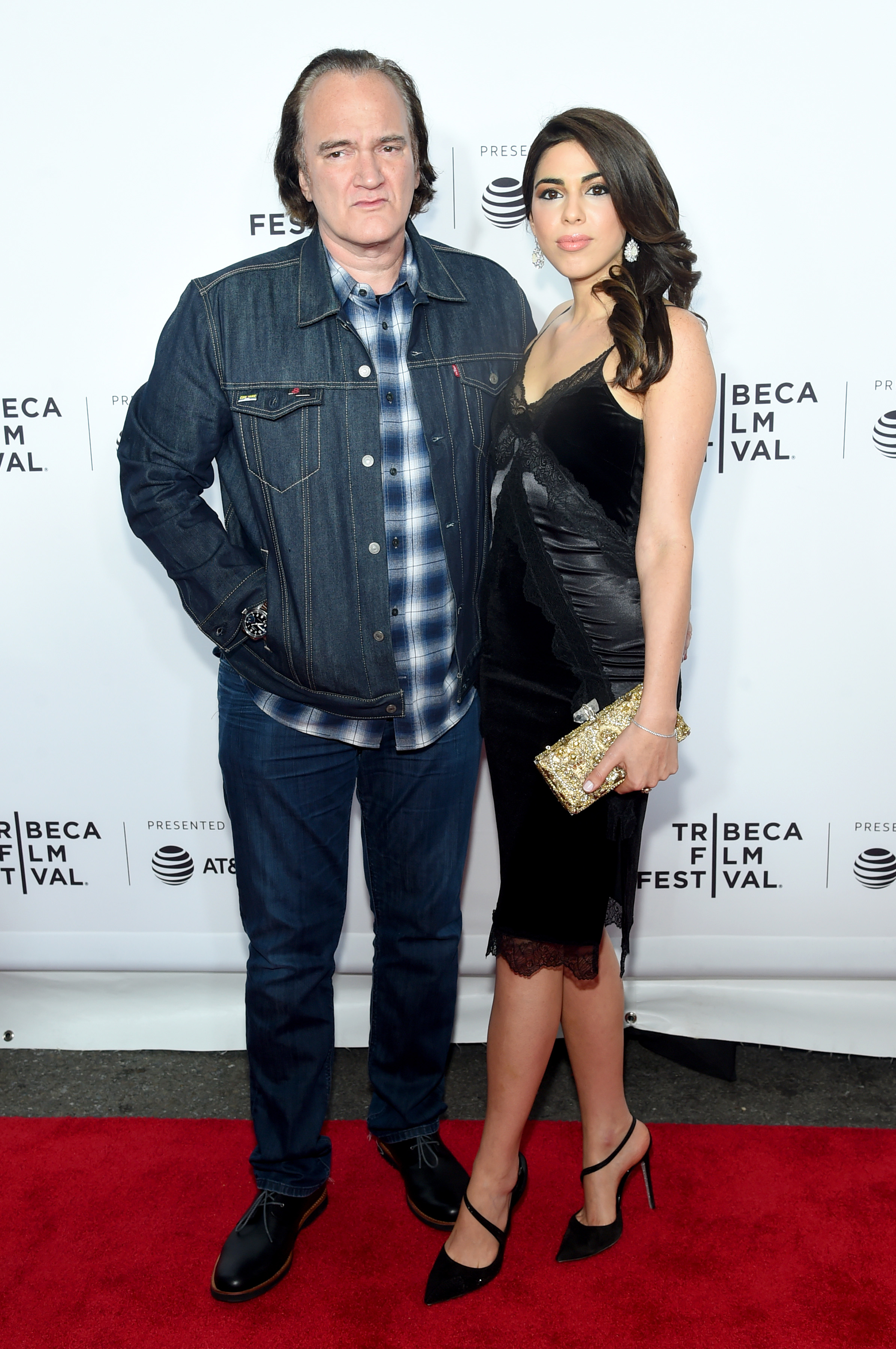 Director Quentin Tarantino and Singer/actress Daniella Pick attend the 'Reservoir Dogs' Screening during 2017 Tribeca Film Festival on April 28, 2017 in New York City. (Photo by Jamie McCarthy/Getty Images for Tribeca Film Festival)