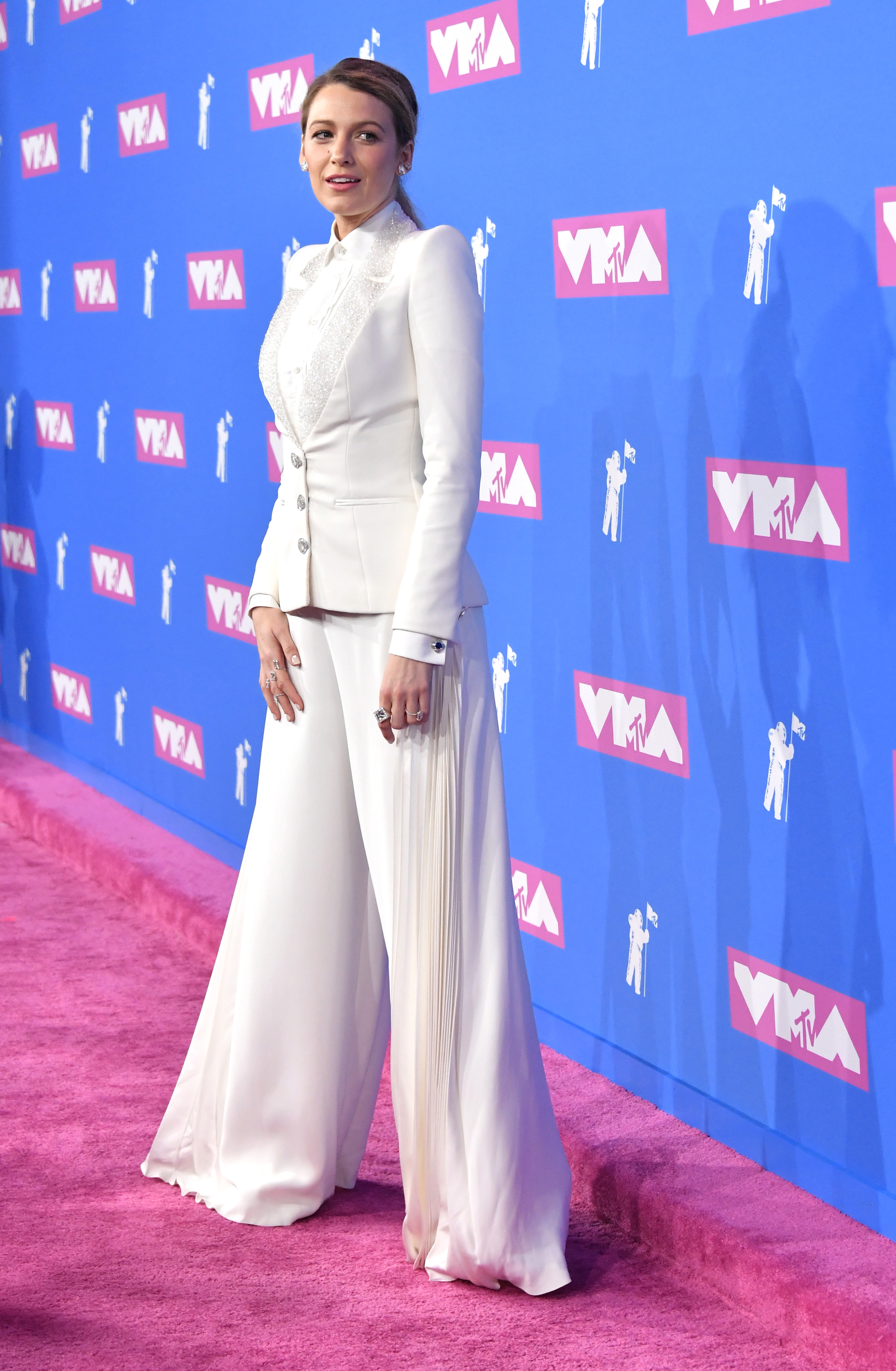Blake Lively attends the 2018 MTV Video Music Awards at Radio City Music Hall on August 20, 2018 in New York City.
