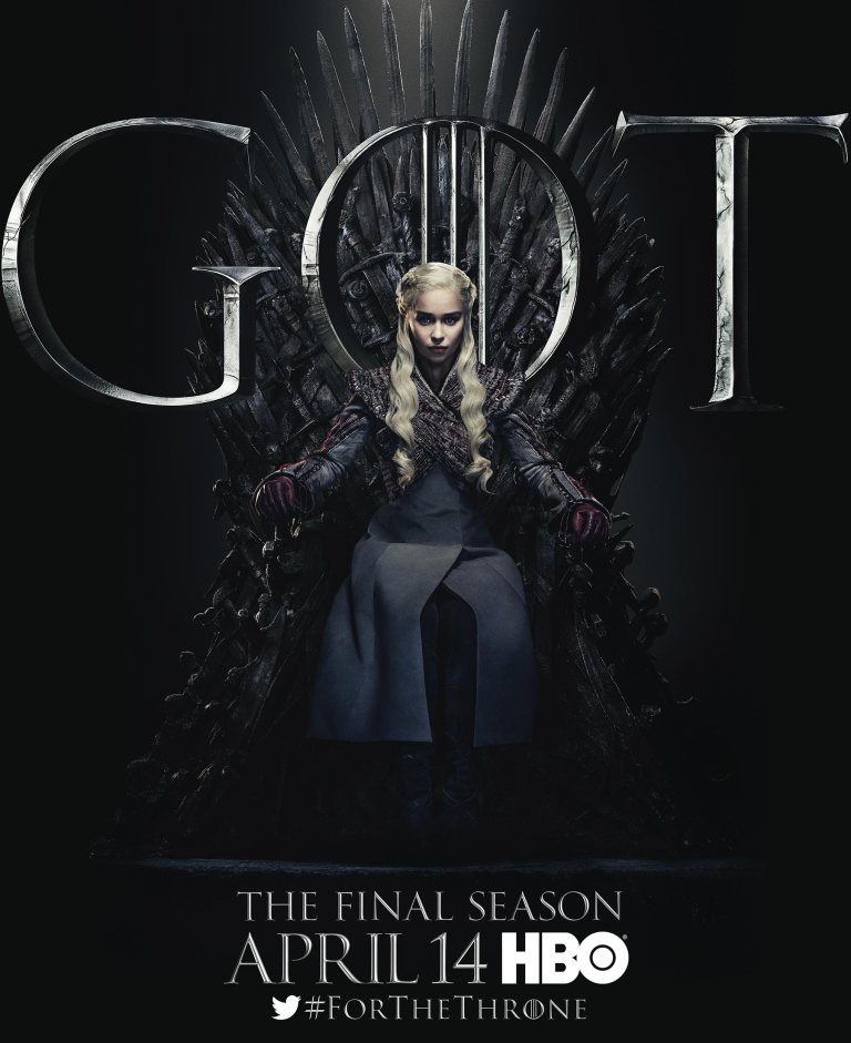 A poster of Danaerys Targaryen from 'Game of Thrones' season 8. (Source: HBO)