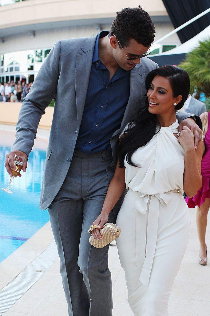 Kim Kardashian and Kris Humphries attend the Amber Fashion Show held at the Meridien Beach Plaza on May 27, 2011, in Monte Carlo, Monaco. (Photo by Mark Thompson/Getty Images)
