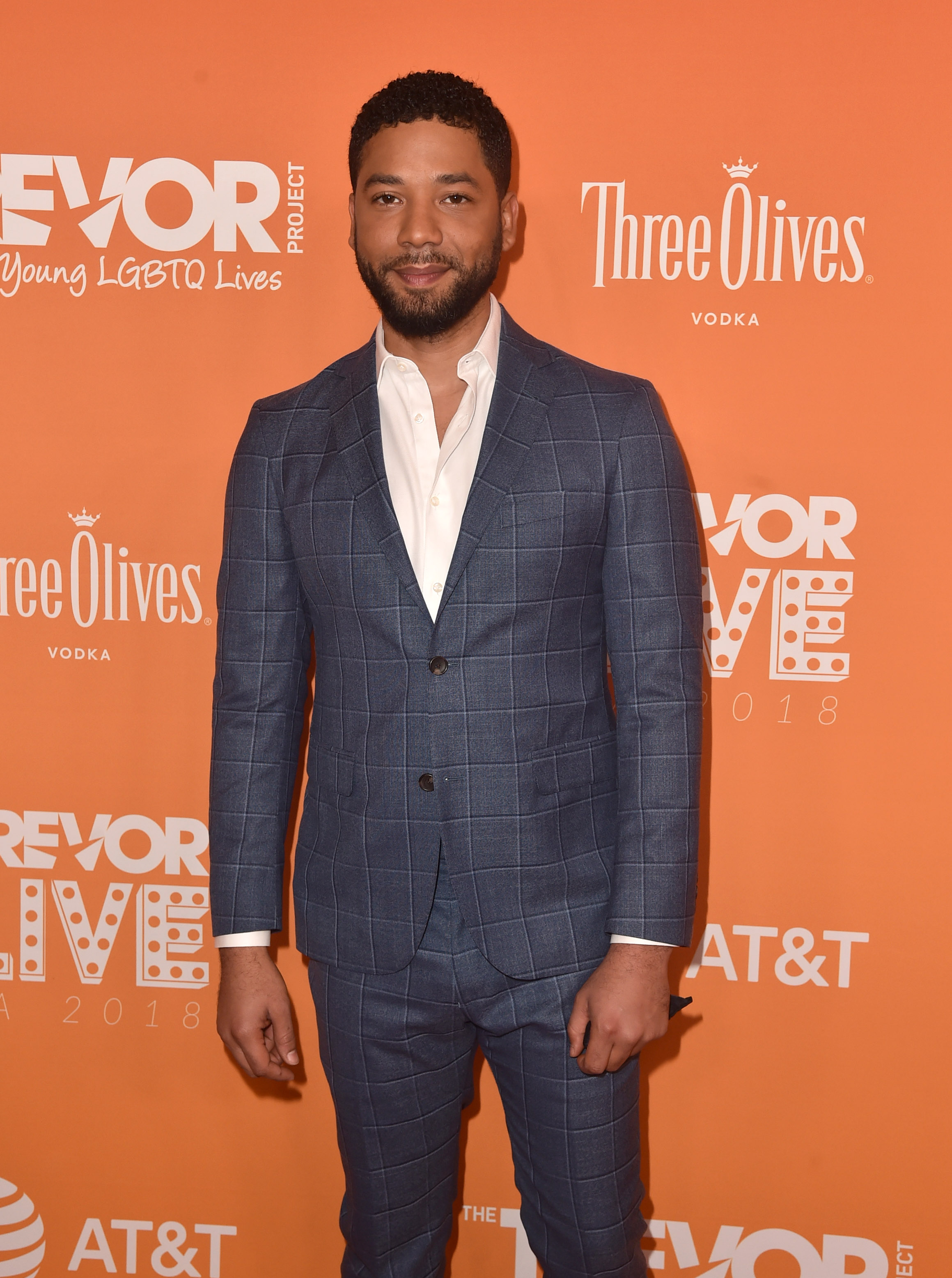 Jussie Smollett attends The Trevor Project's 2018 TrevorLIVE Gala at The Beverly Hilton Hotel on December 02, 2018, in Beverly Hills, California. (Getty Images)