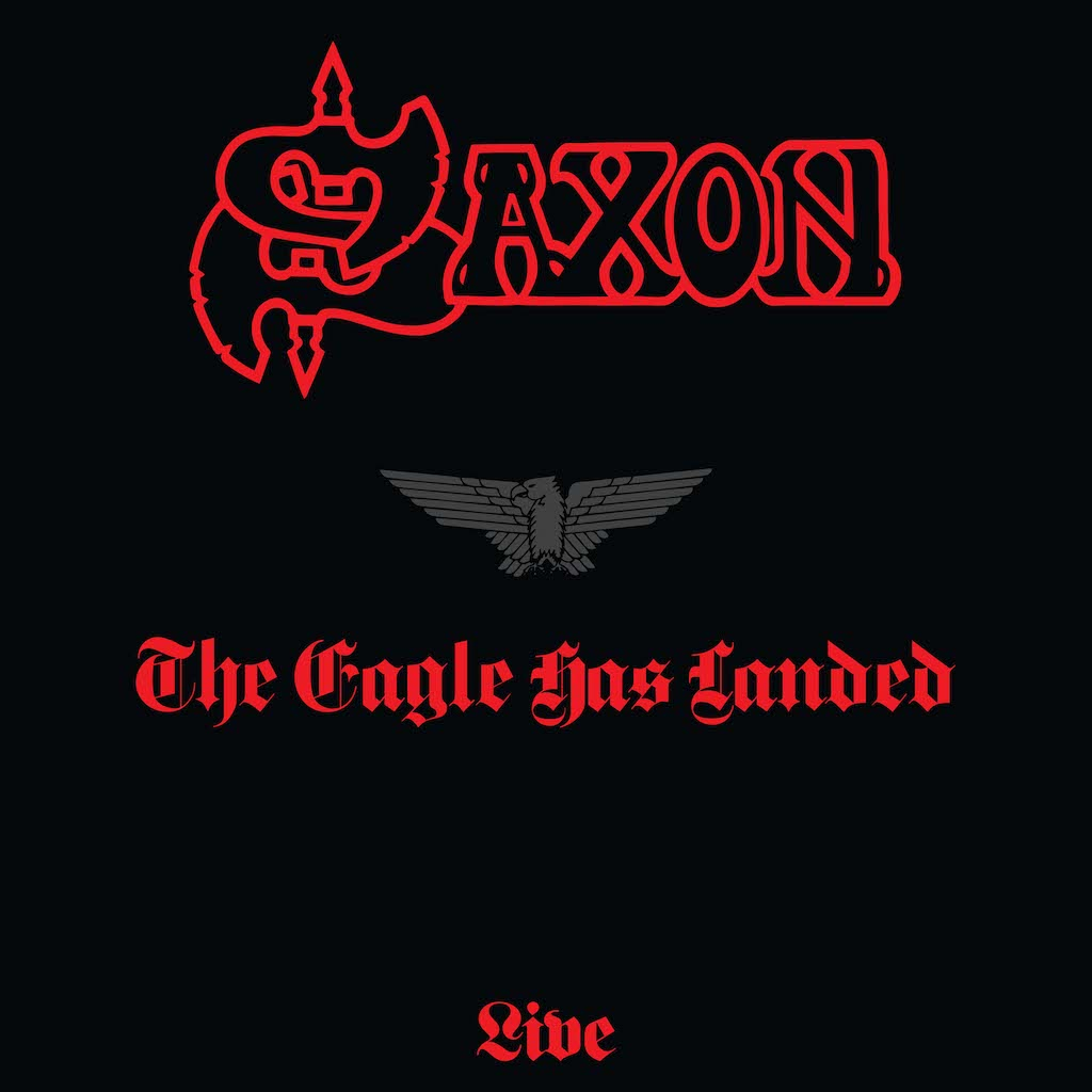 Album art for Saxon's re-issue of 'The Eagle Has Landed'