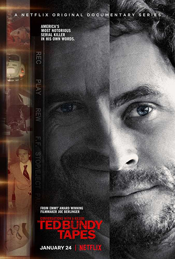 Official poster for Conversations With A Killer: The Ted Bundy Tapes (Source: IMDb)