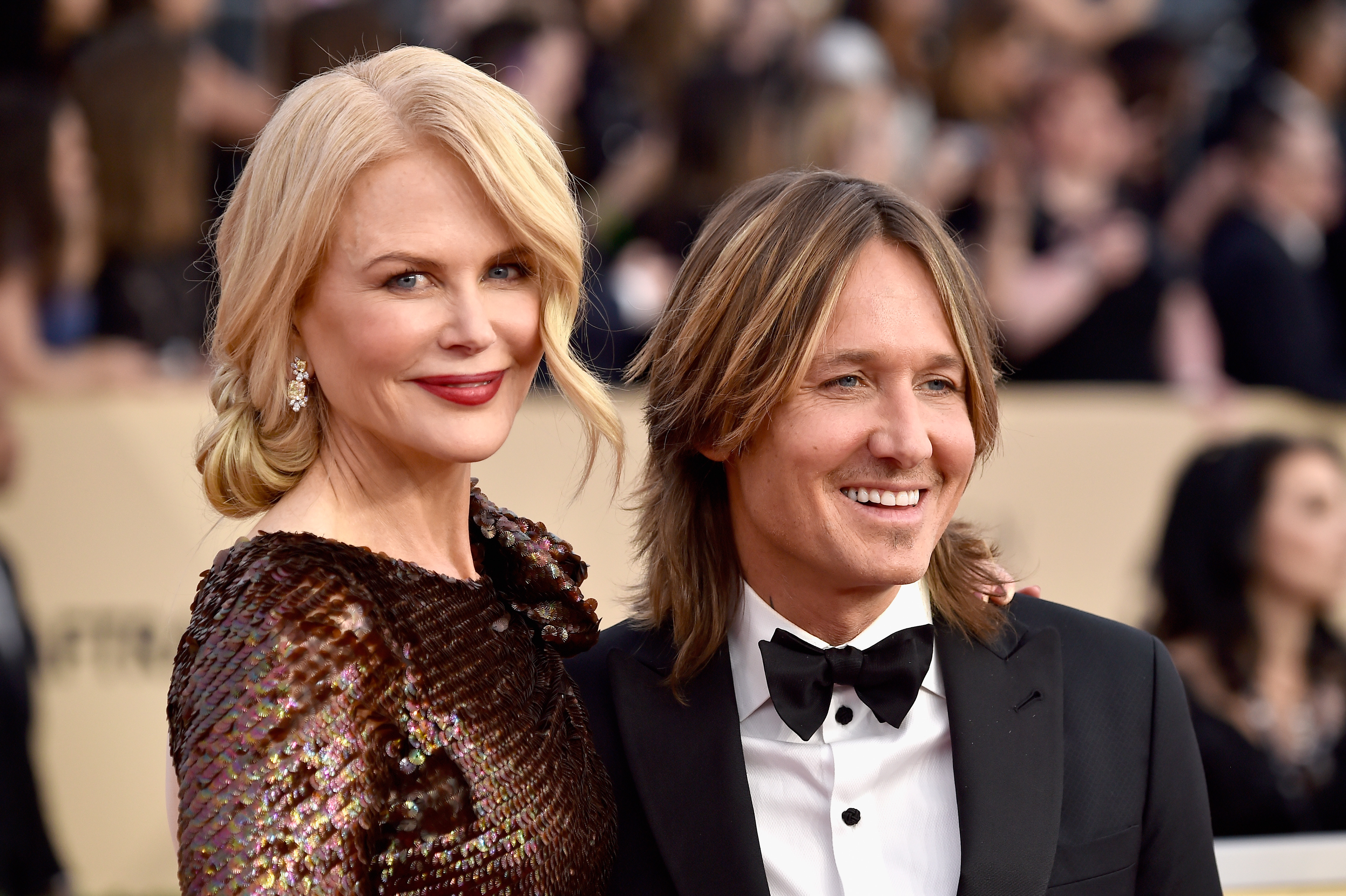 Actor Nicole Kidman (L) and musician Keith Urban attend the 24th Annual Screen Actors Guild Awards at The Shrine Auditorium on January 21, 2018 in Los Angeles, California.