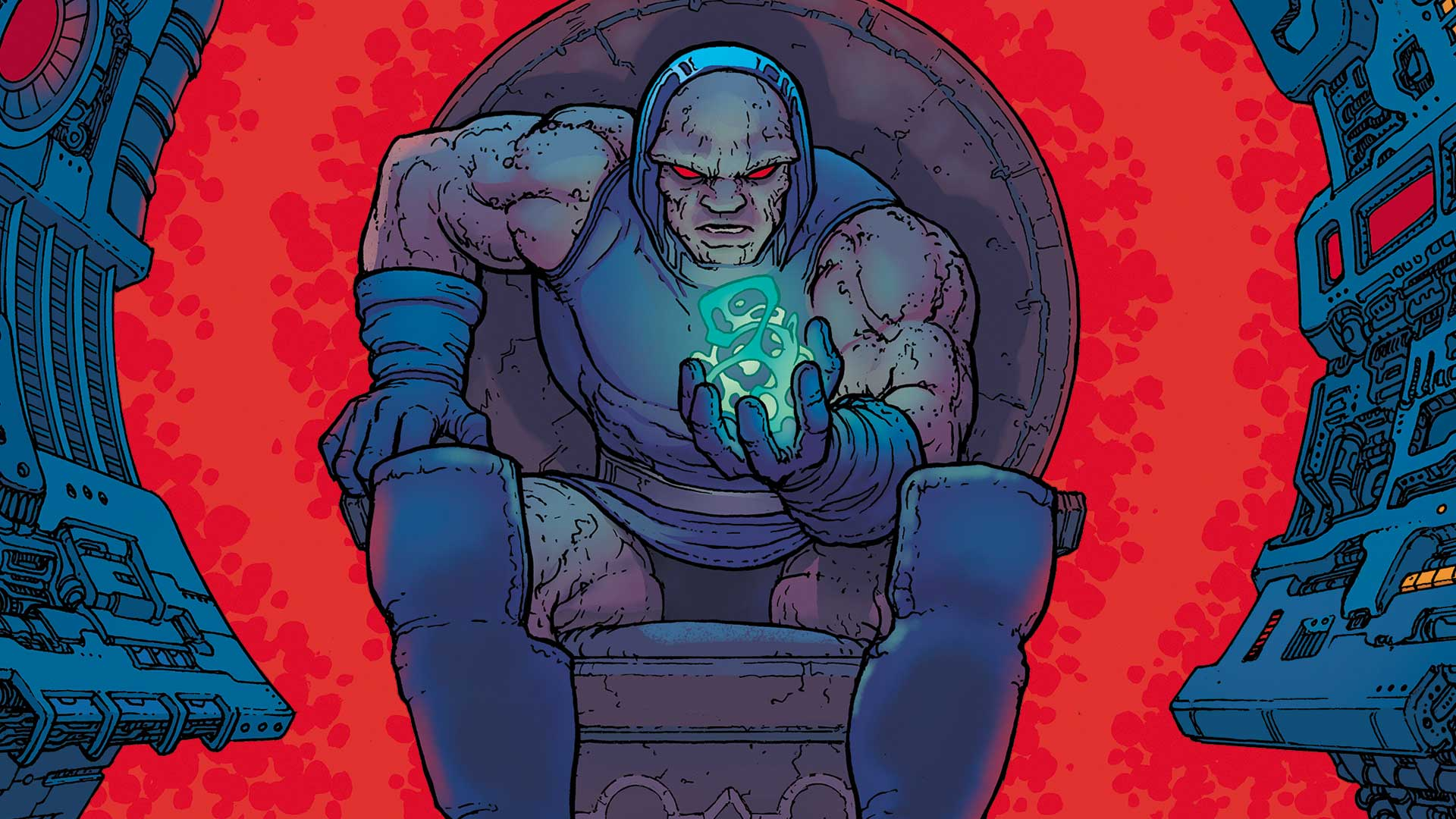 Darkseid pondering his never-ending quest for the Anti-Life Equation. (Source: DC Comics)